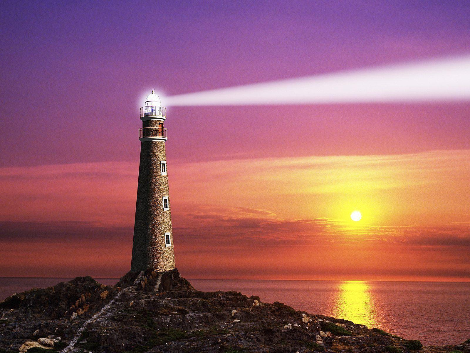 the coastal lighthouse computer art photography desktop wallpapers