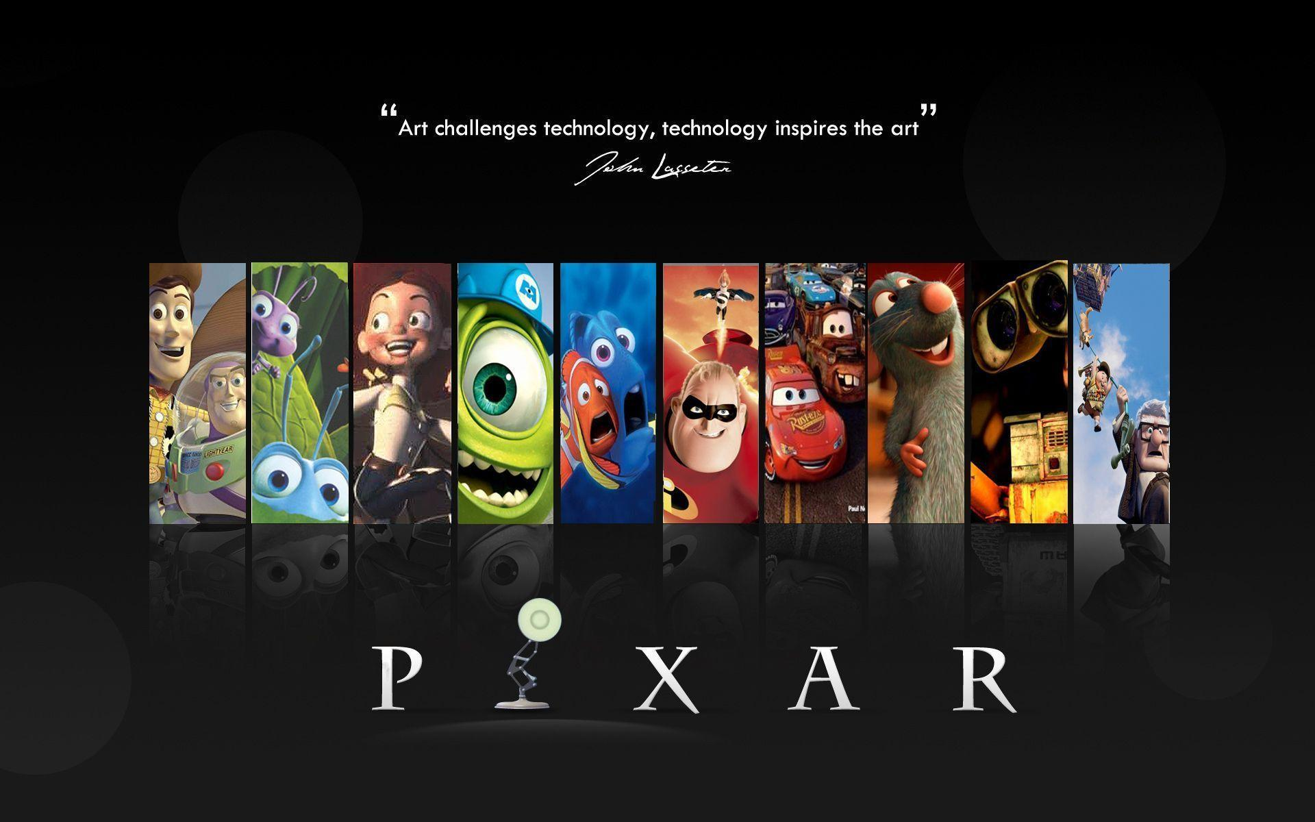 Disney Pixar Black Pixar (id: 191653) | WallPho.com