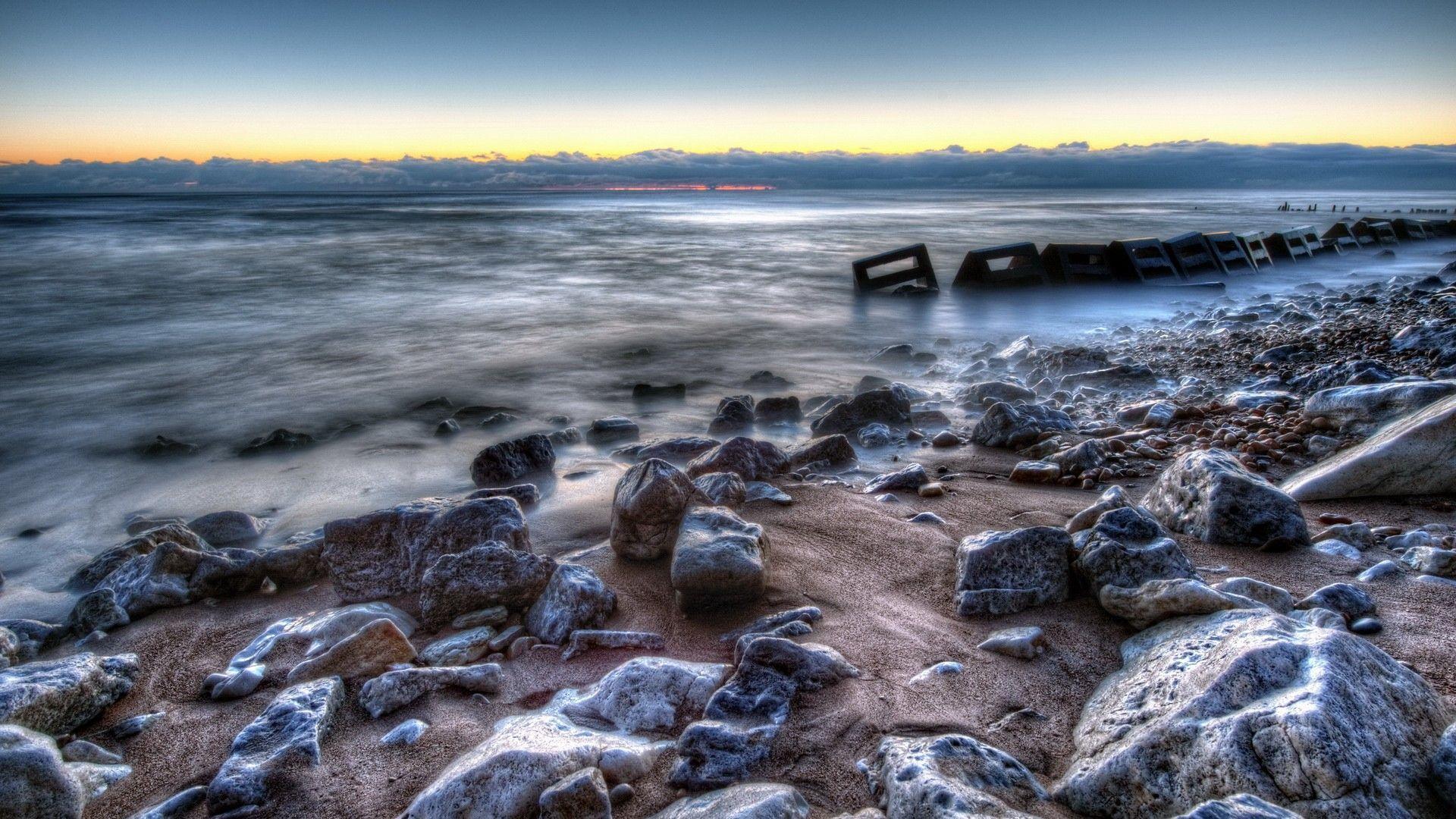 beach hdr stones harmony - photo #5