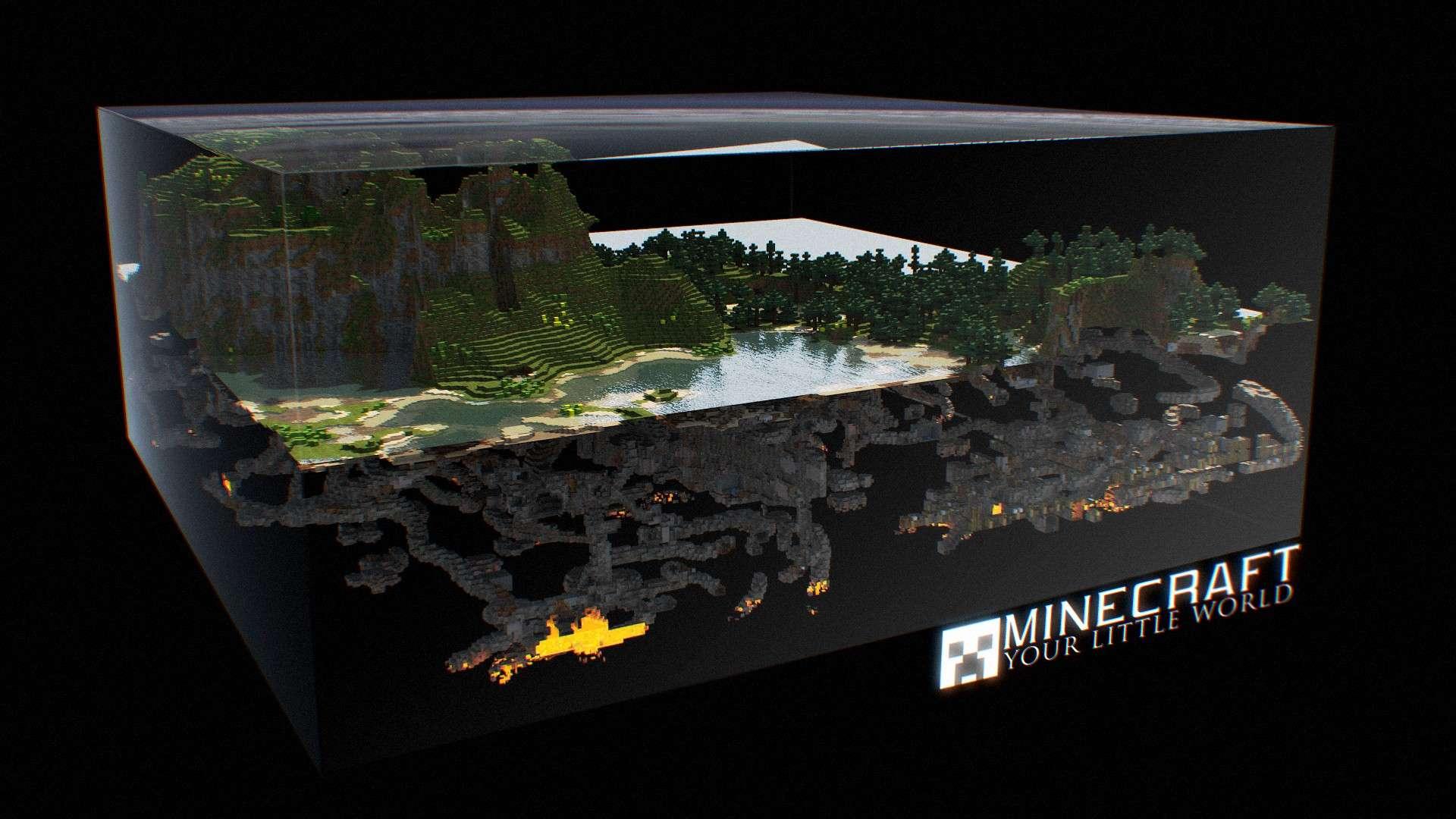 Minecraft 3D World HD Wallpaper » FullHDWpp - Full HD Wallpapers ...
