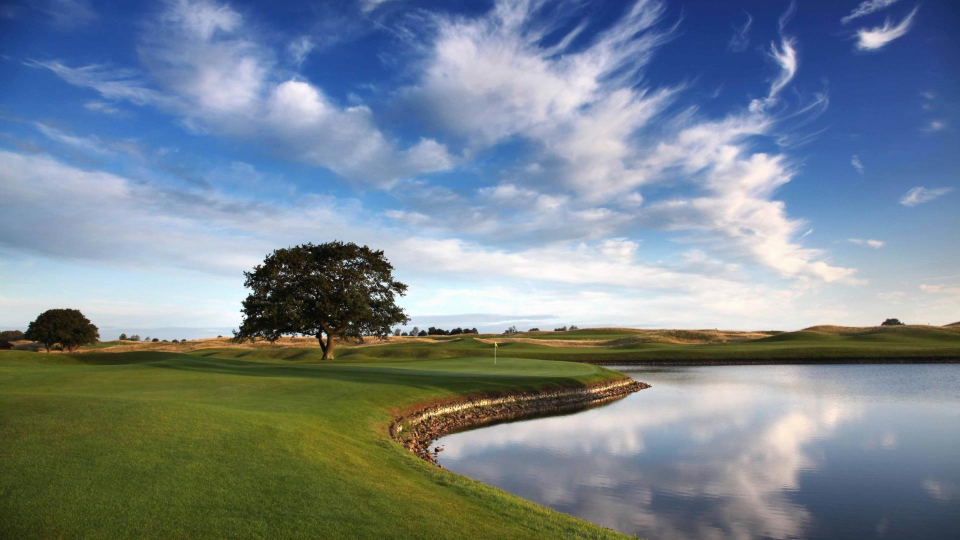 Golf Course Sky Wallpaper For Android #12310 Wallpaper | Wallpaper ...