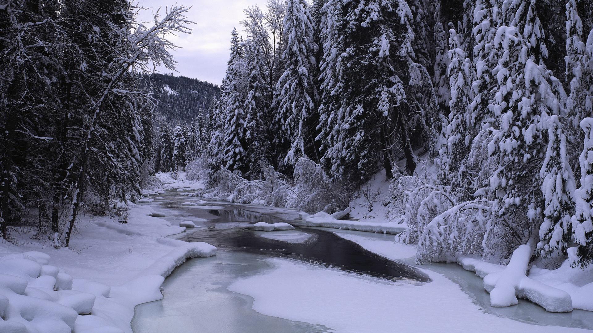 snow landscape backgrounds - photo #8