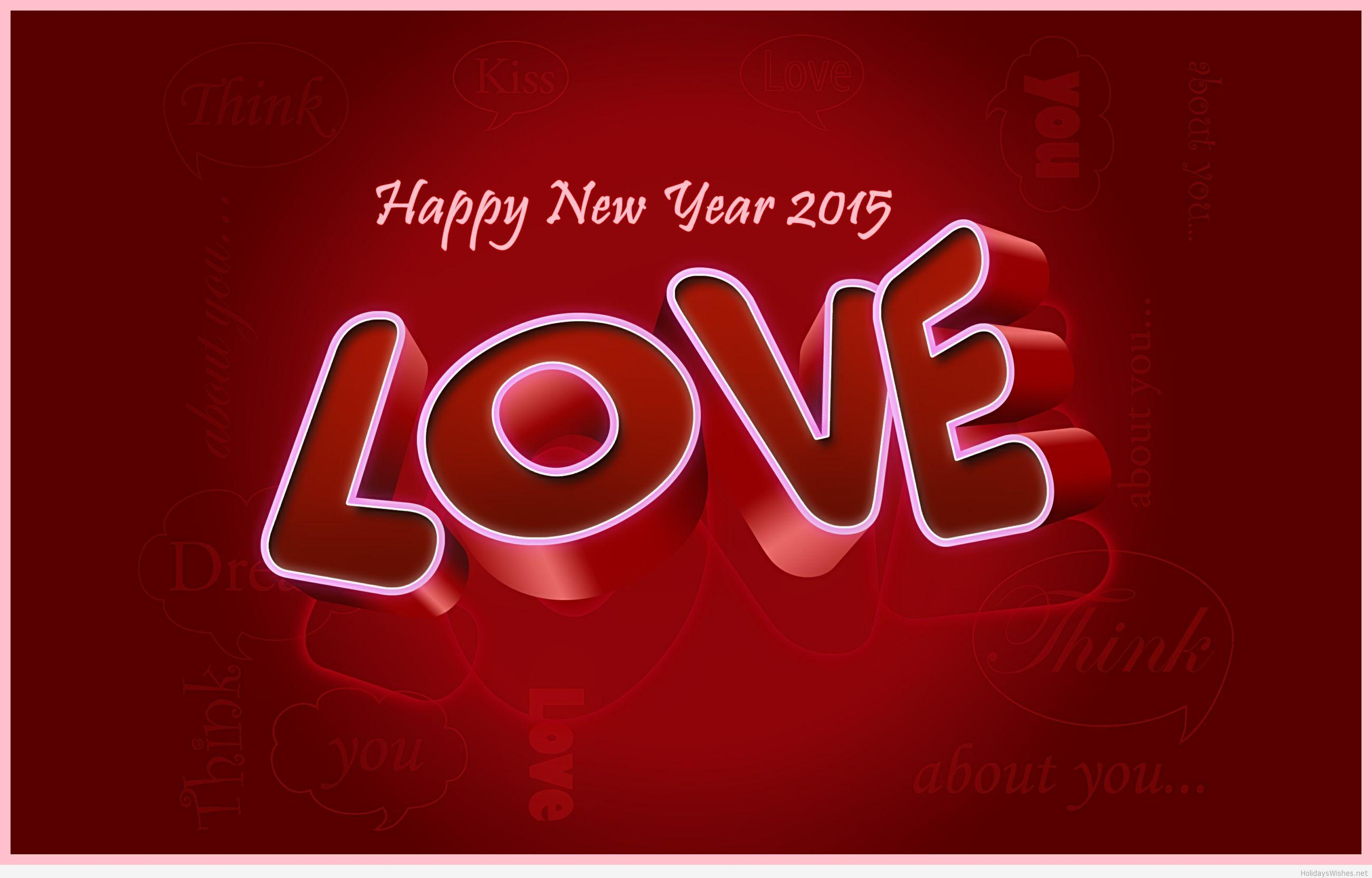 Wallpaper download new year 2015 - Happy New Year 2015 Hd Wallpaper Love 3d Background Wallpaperloves