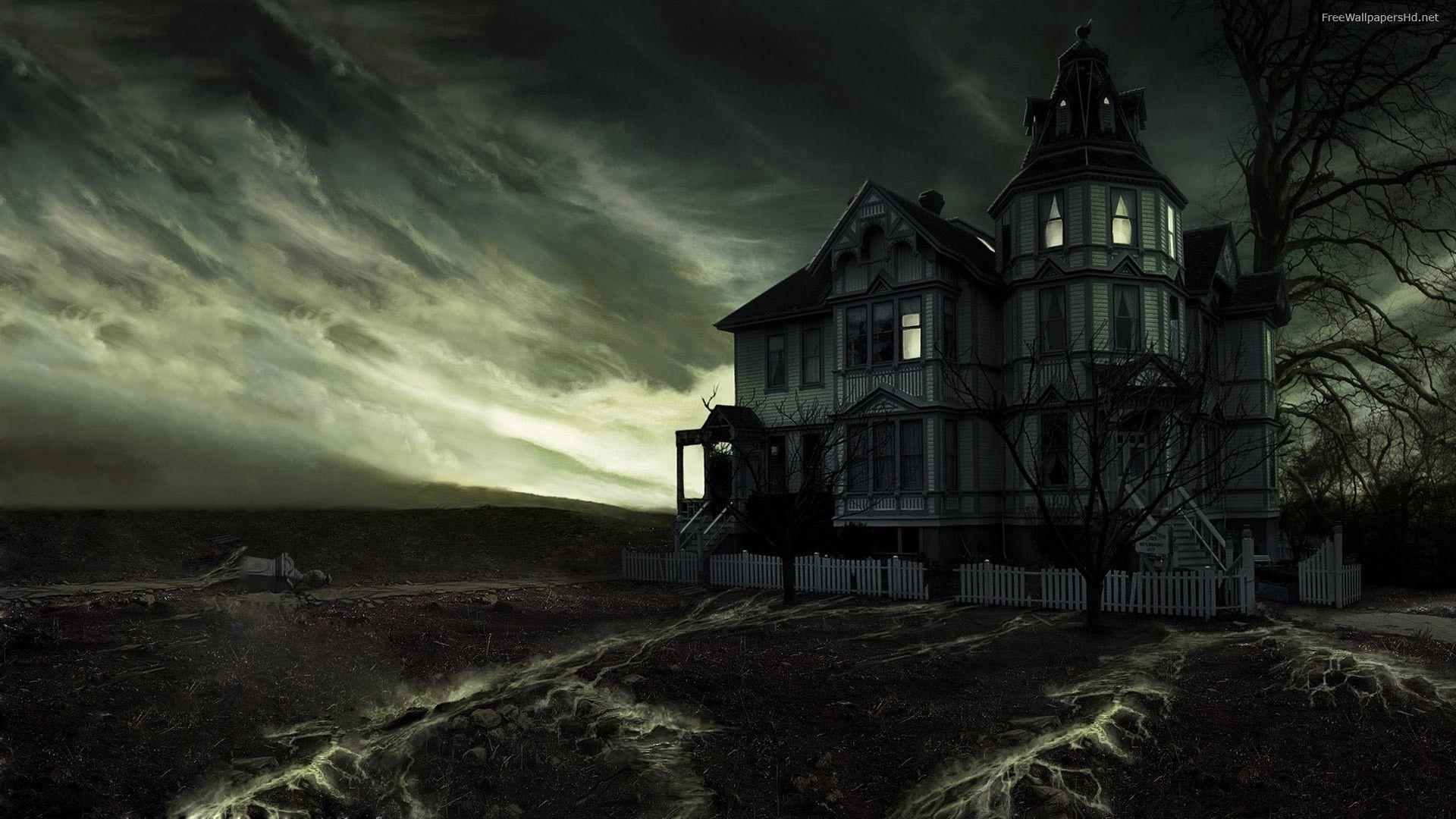 Haunted Mansion Desktop Wallpaper Haunted House Backgrou...