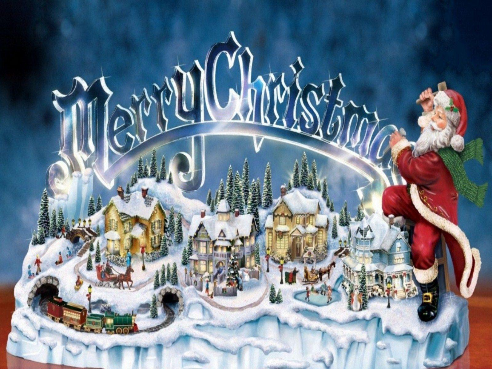 Free Thomas Kinkade Christmas Screensavers 113407 High Definition