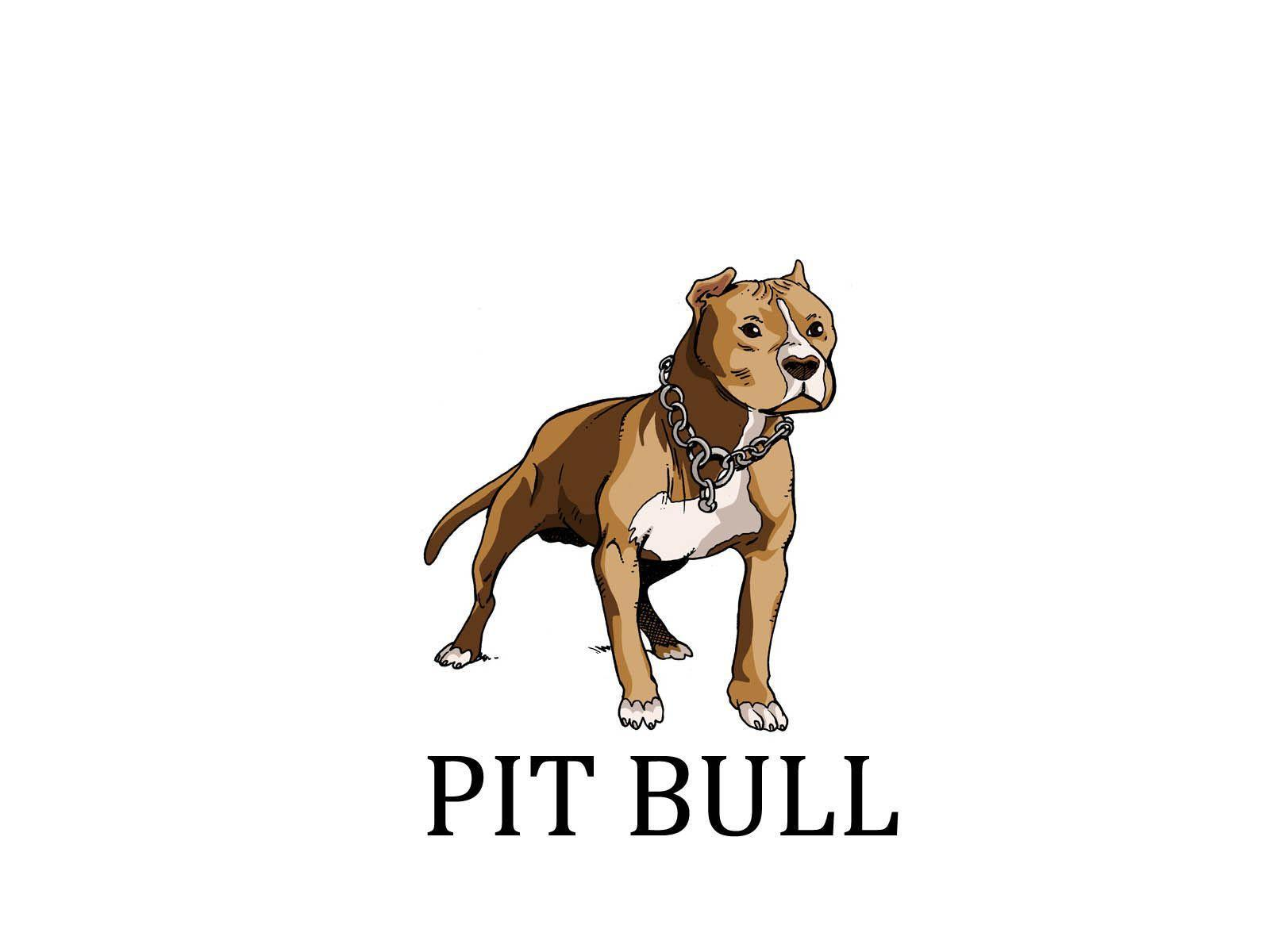 Painted pit bull wallpaper
