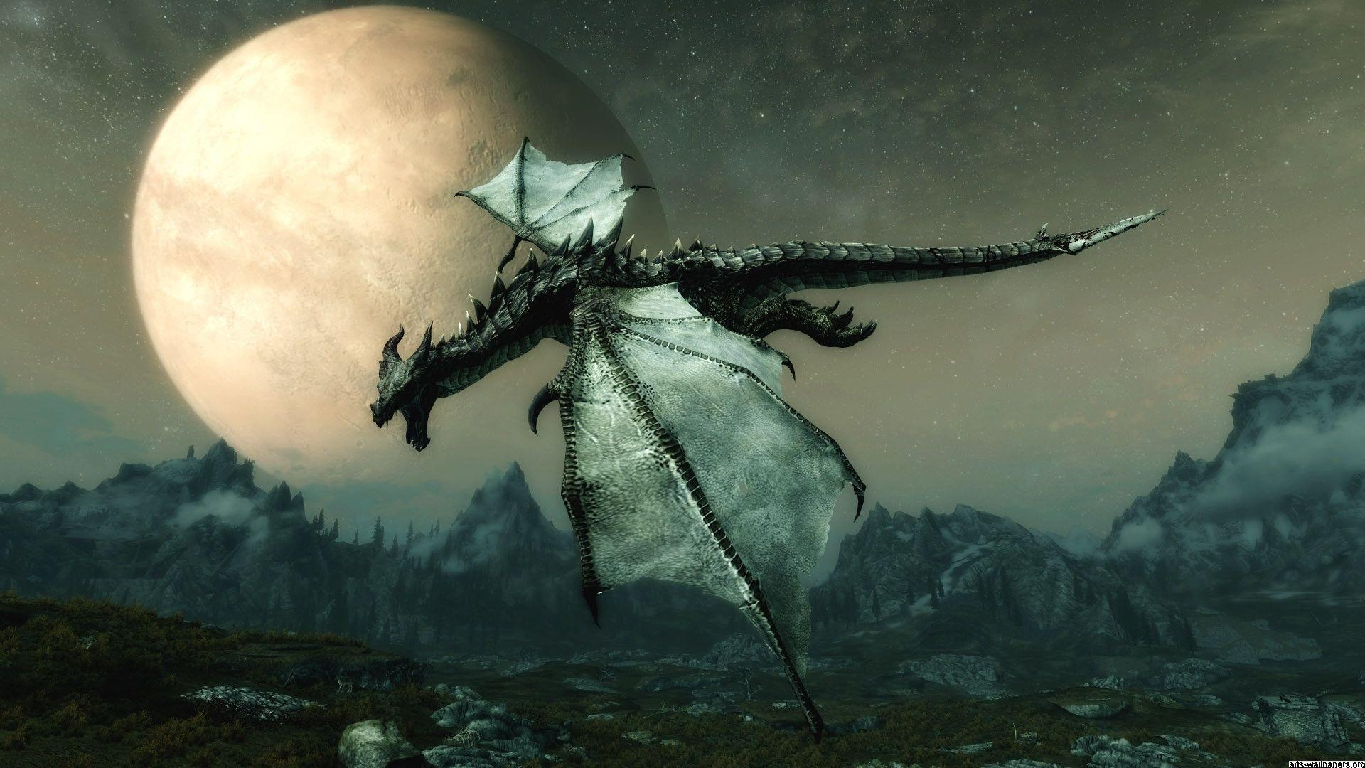 Skyrim Dragon Picture Wallpapers HD