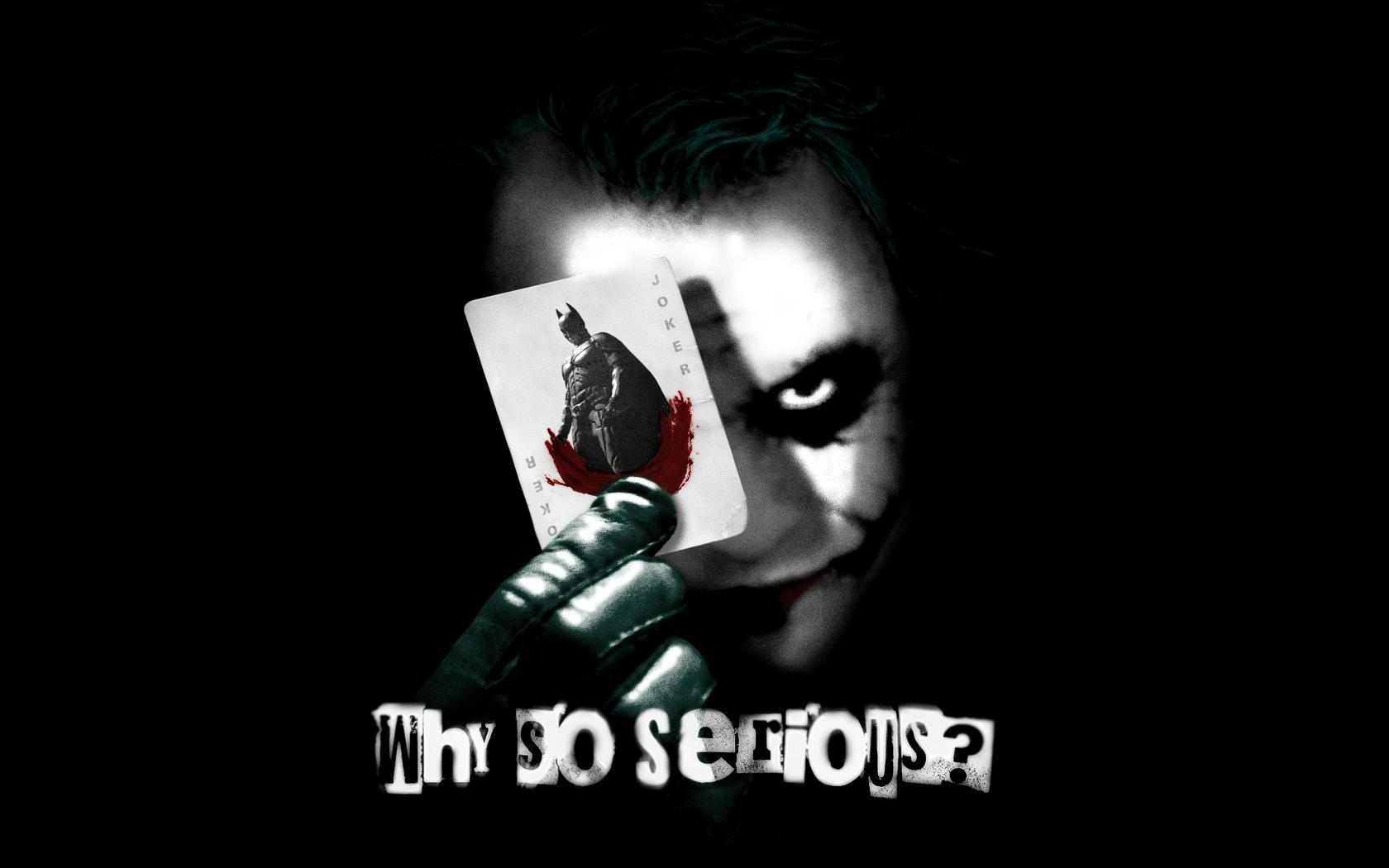 Joker why so serious movie wallpapers