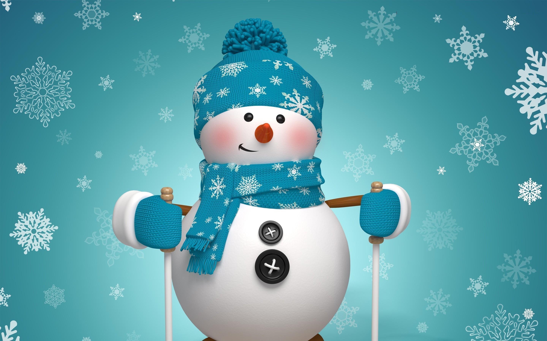 Beautiful Snowman Full HD Wallpaper