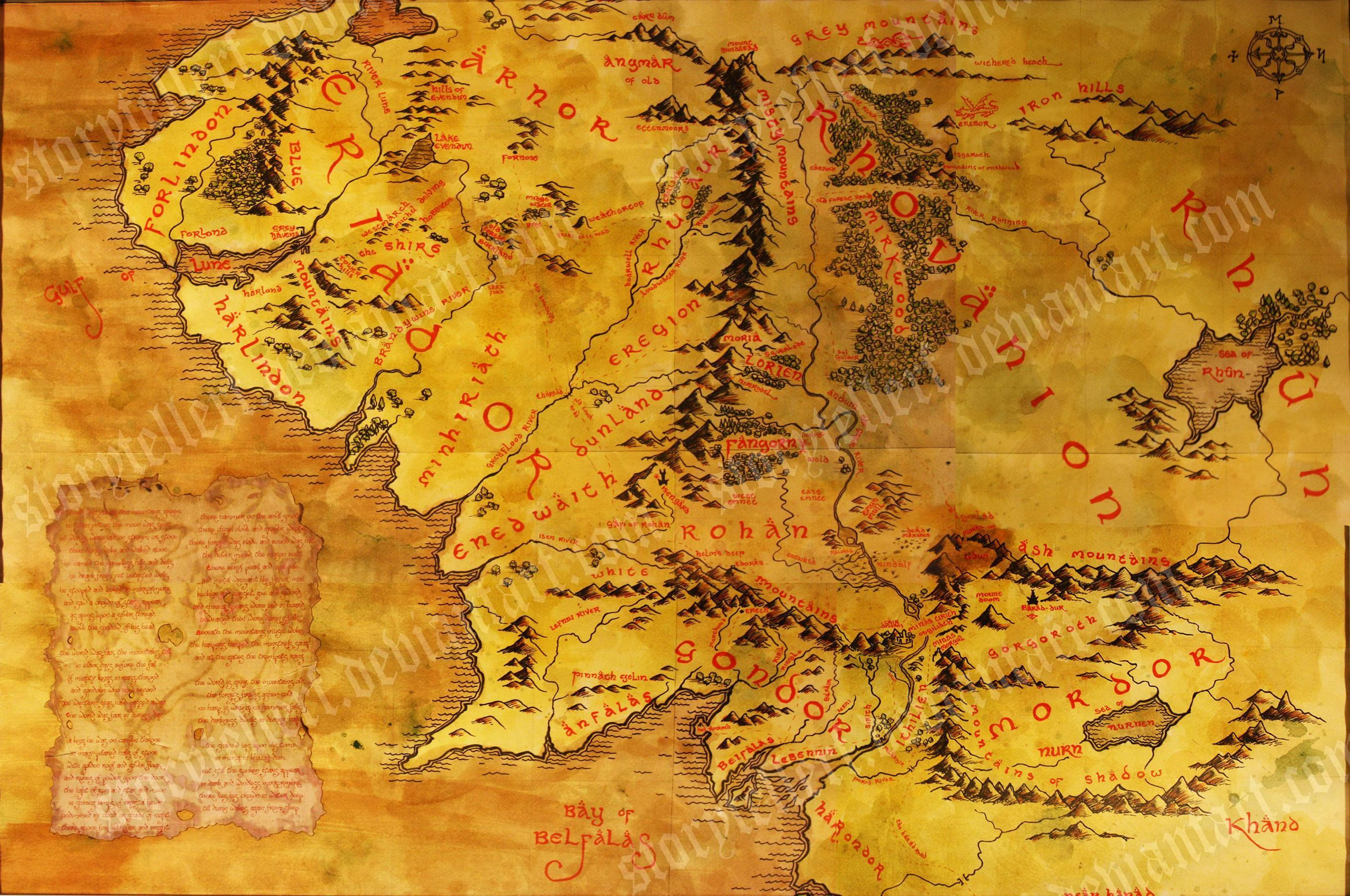 Map Of Middle Earth Wallpapers Wallpaper Cave – Full Size Map of Middle Earth