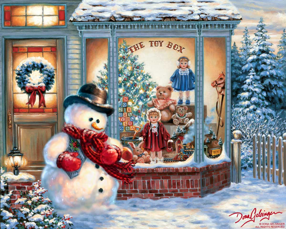 toy bobackgrounds snowman