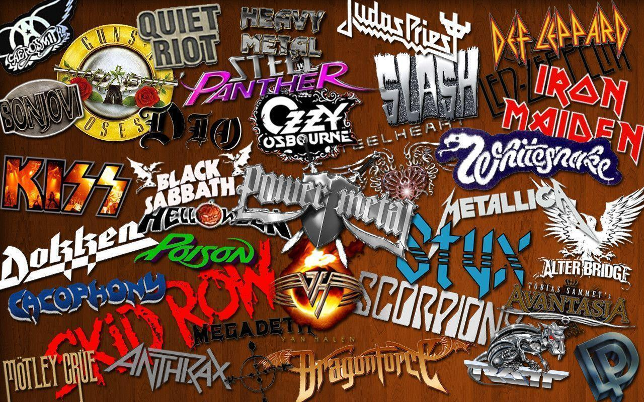 Metal Band Collage 2 Computer Wallpapers, Desktop Backgrounds