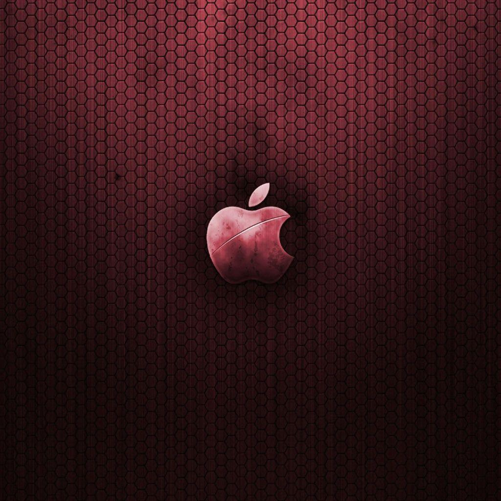 Metallic red apple logo iPad Wallpapers and iPad 2 Wallpapers