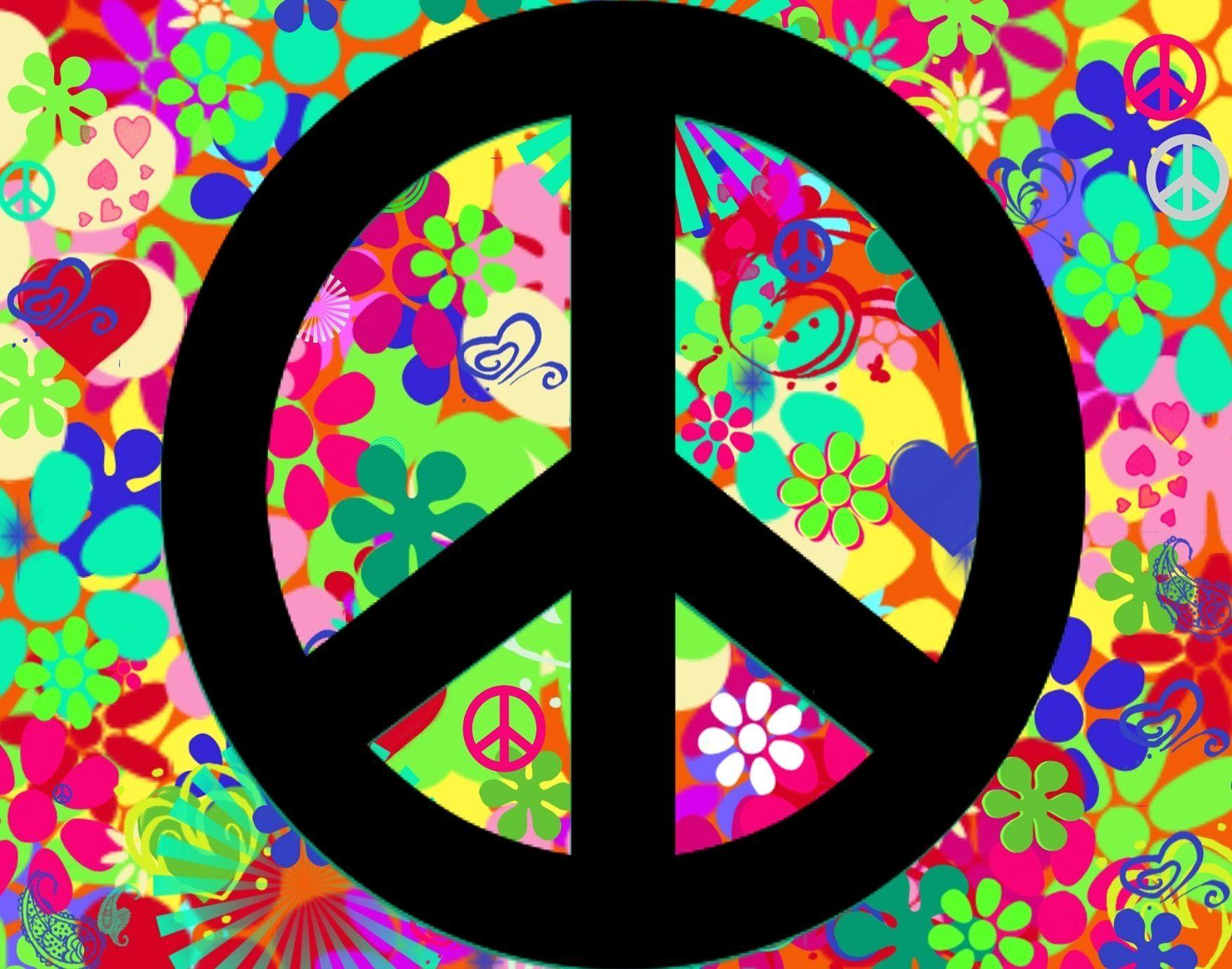 colorful peace sign backgrounds wallpaper cave