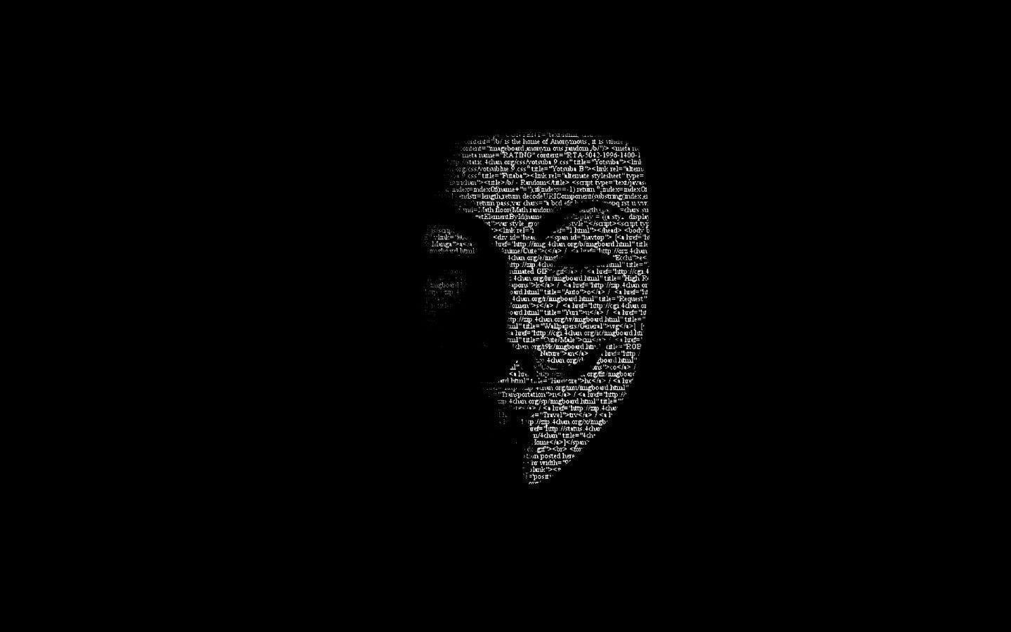 1440x900 Guy Fawkes Mask Code desktop PC and Mac wallpapers