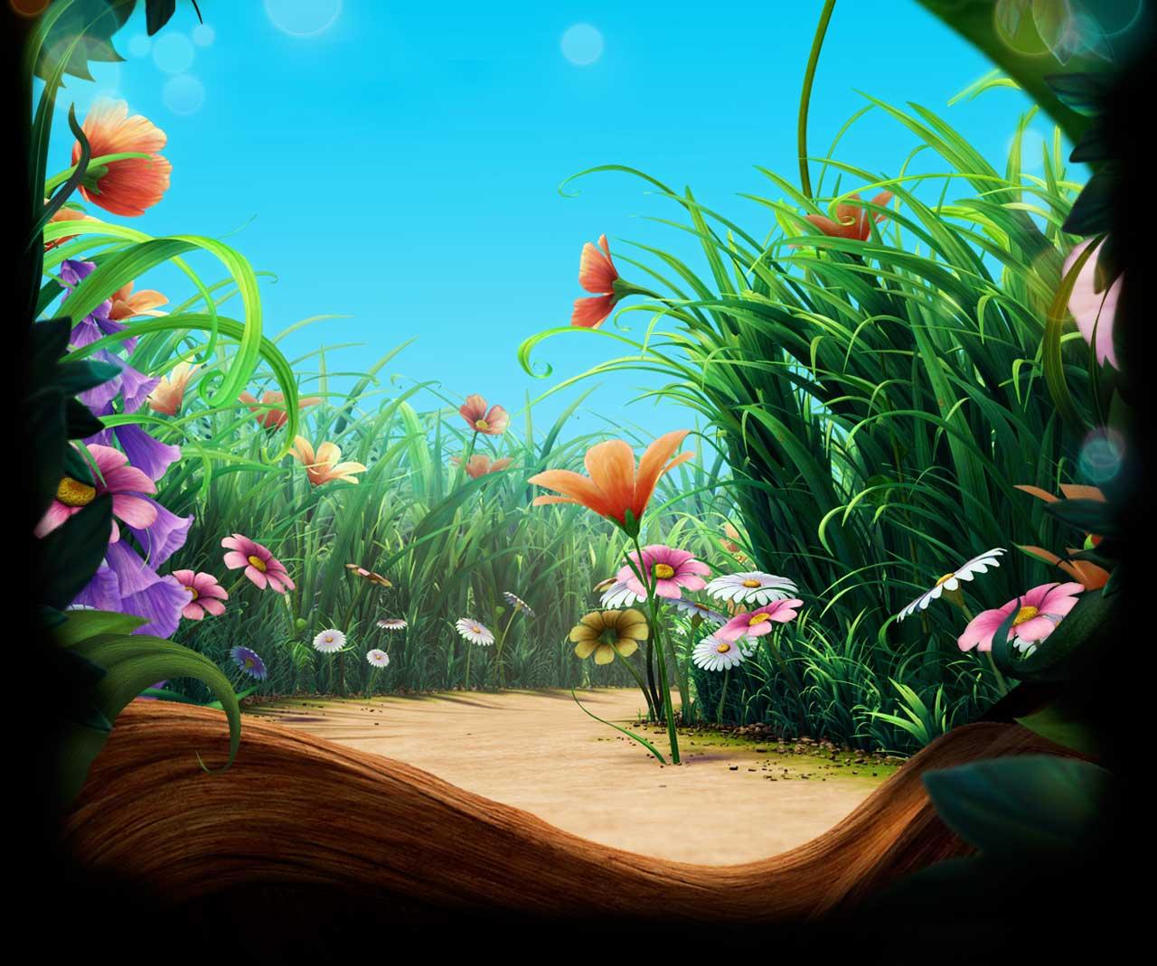 fairy garden white wallpaper - photo #29