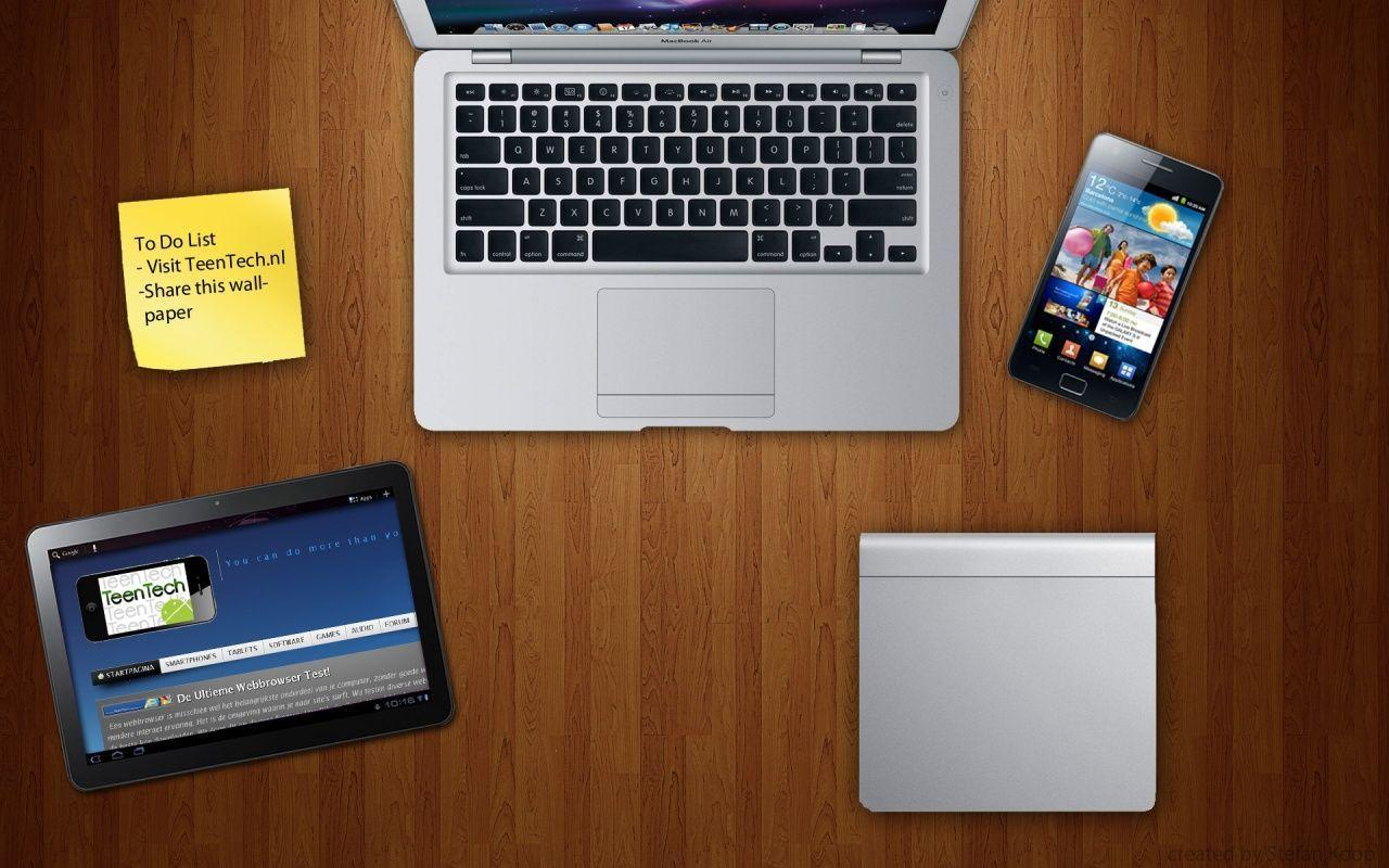 Apple And Samsung Desk Wallpapers