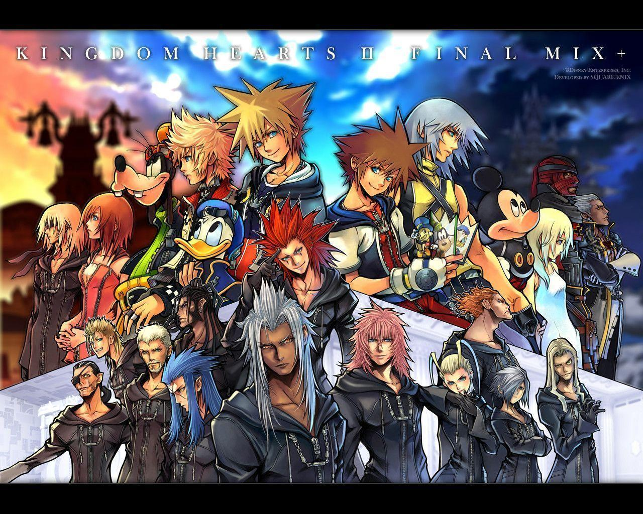 Kingdom Hearts 358/2 Days, Wallpapers