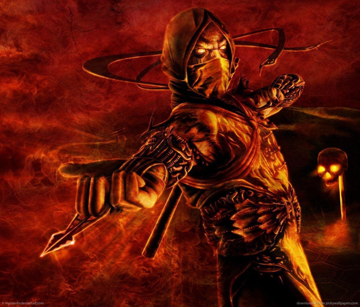 Download Mortal Kombat Scorpion Concept Wallpapers For Samsung