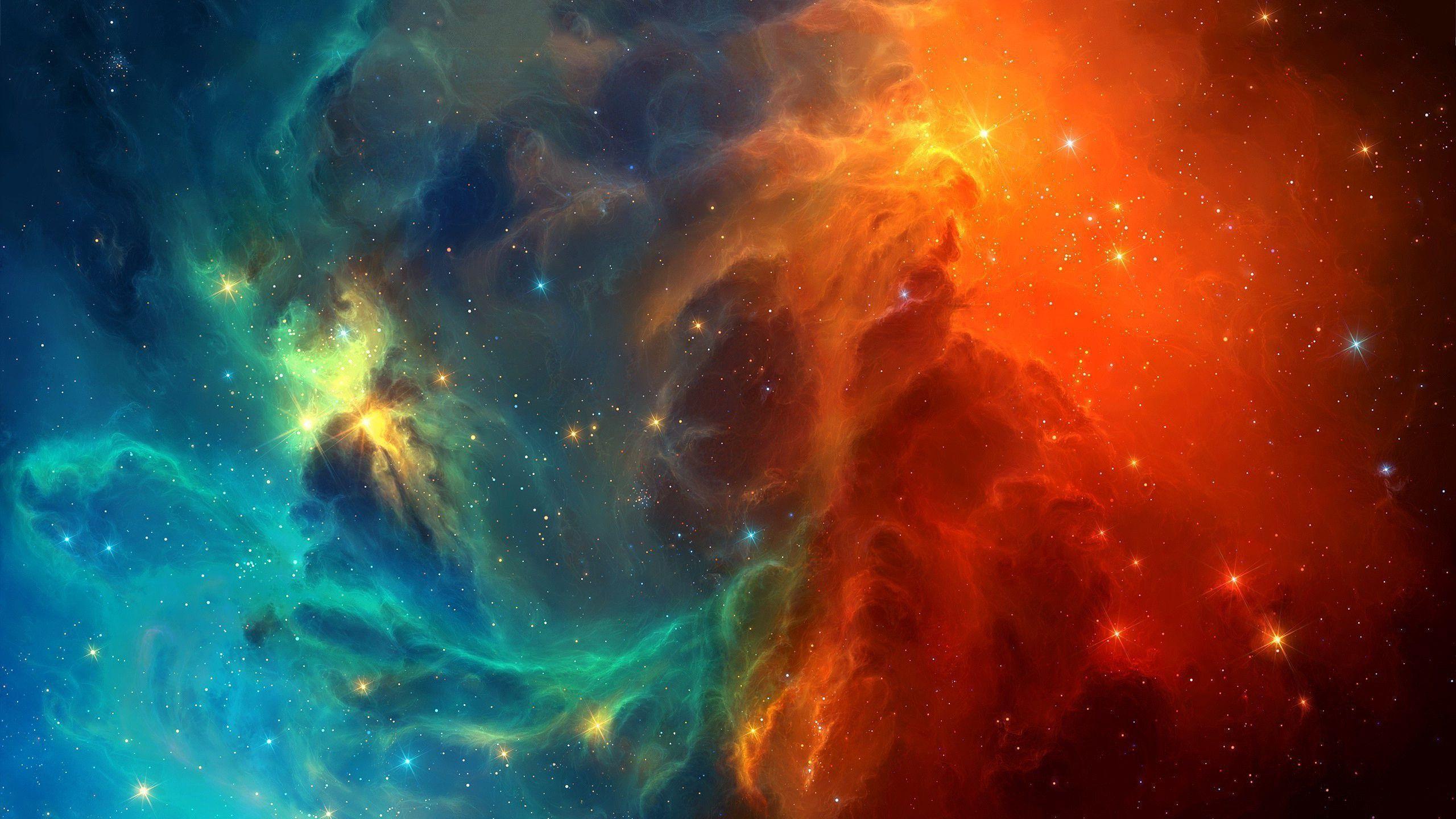 2560x1440 Space nebula stars Wallpaper