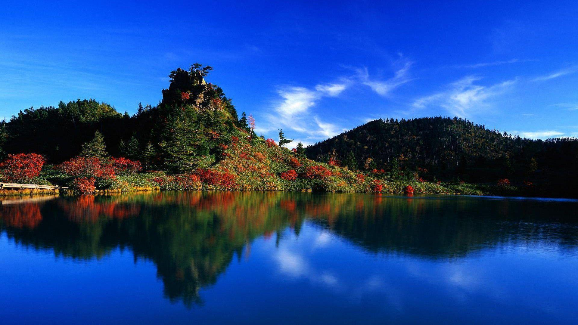 Landscape Lake Blue Lake Wallpapers