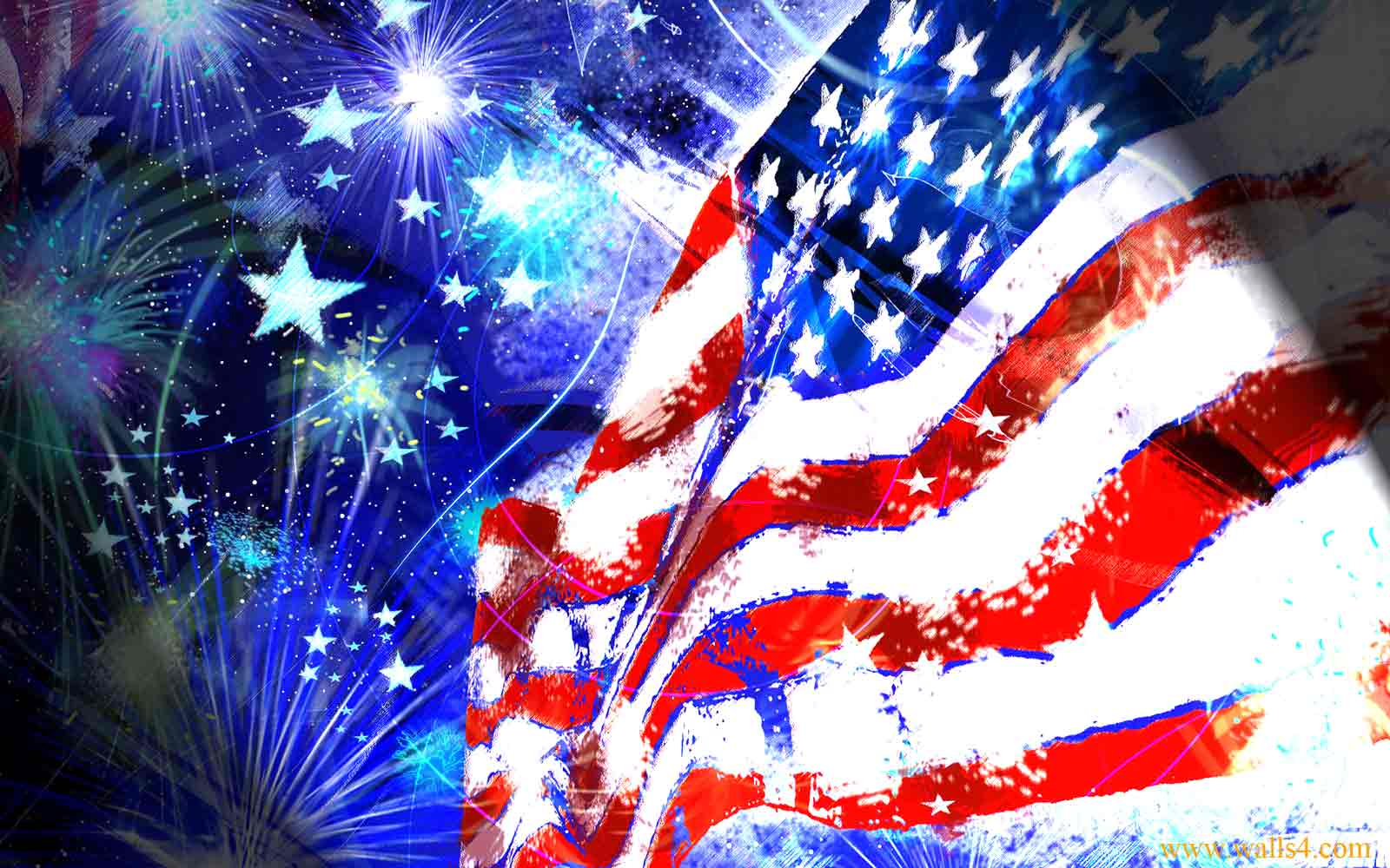 Free Wallpapers - Flag Independence Day USA wallpaper