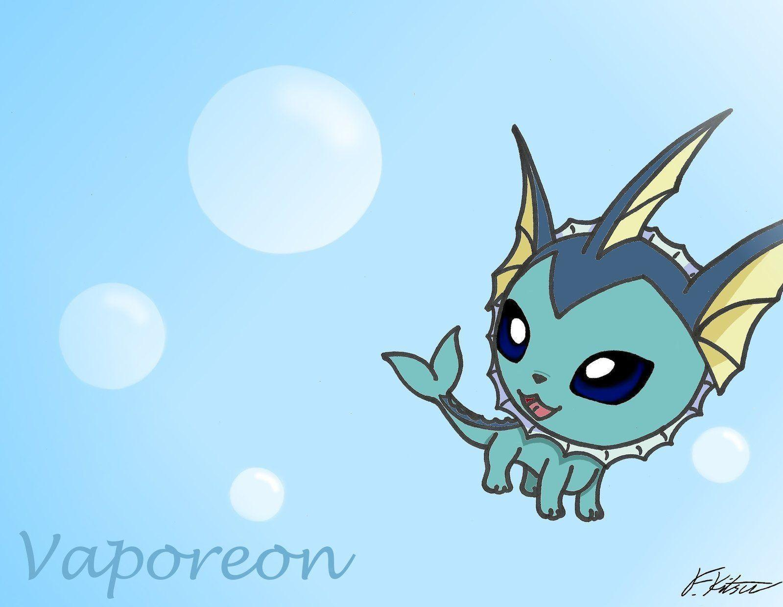 Chibi Vaporeon Wallpapers by Flareonsk8r