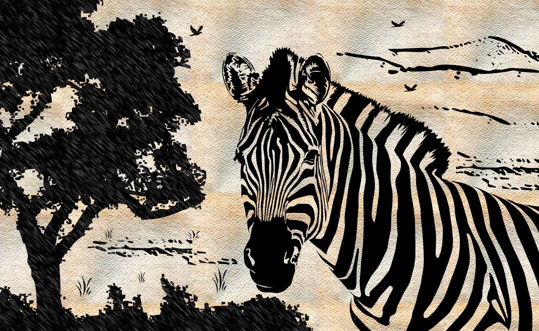 zebra drawing computer wallpapers desktop backgrounds 1790x1100