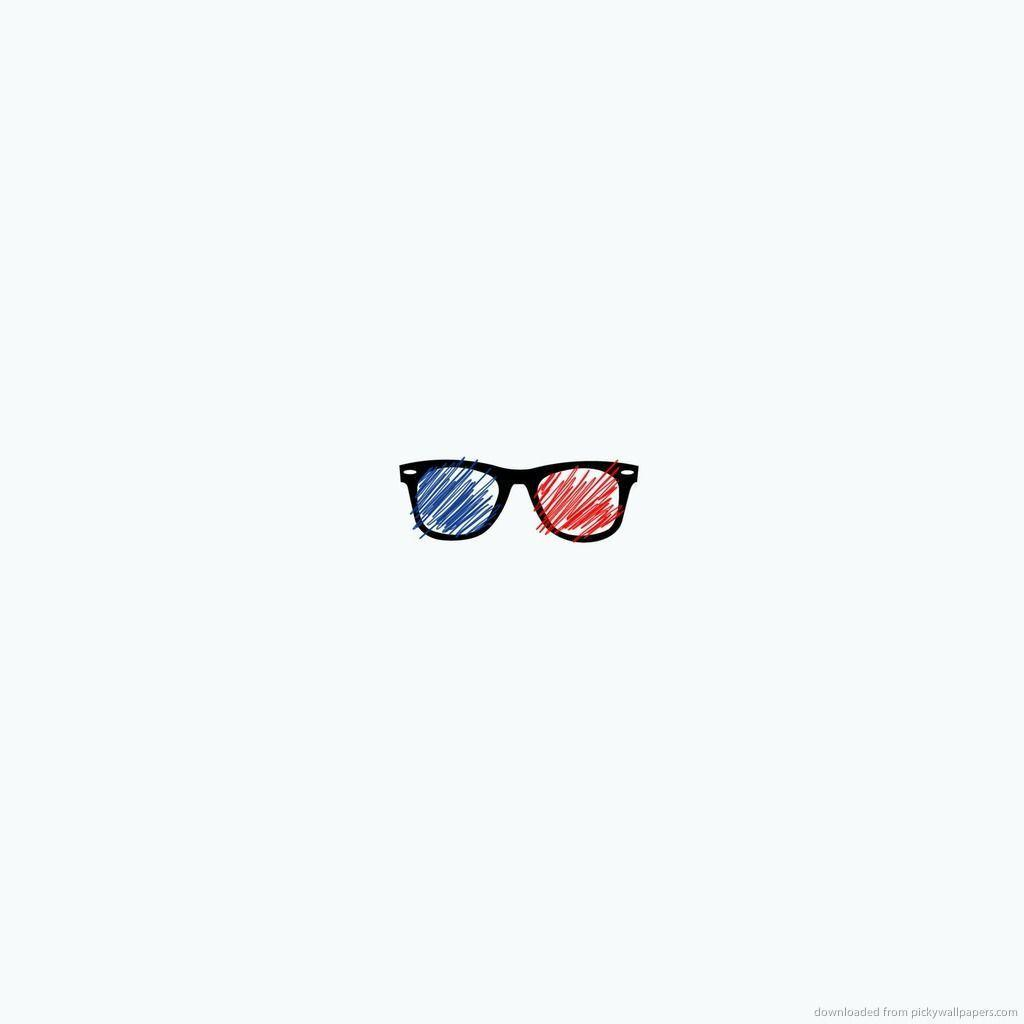 pixelated 3d glasses wallpaper - photo #26
