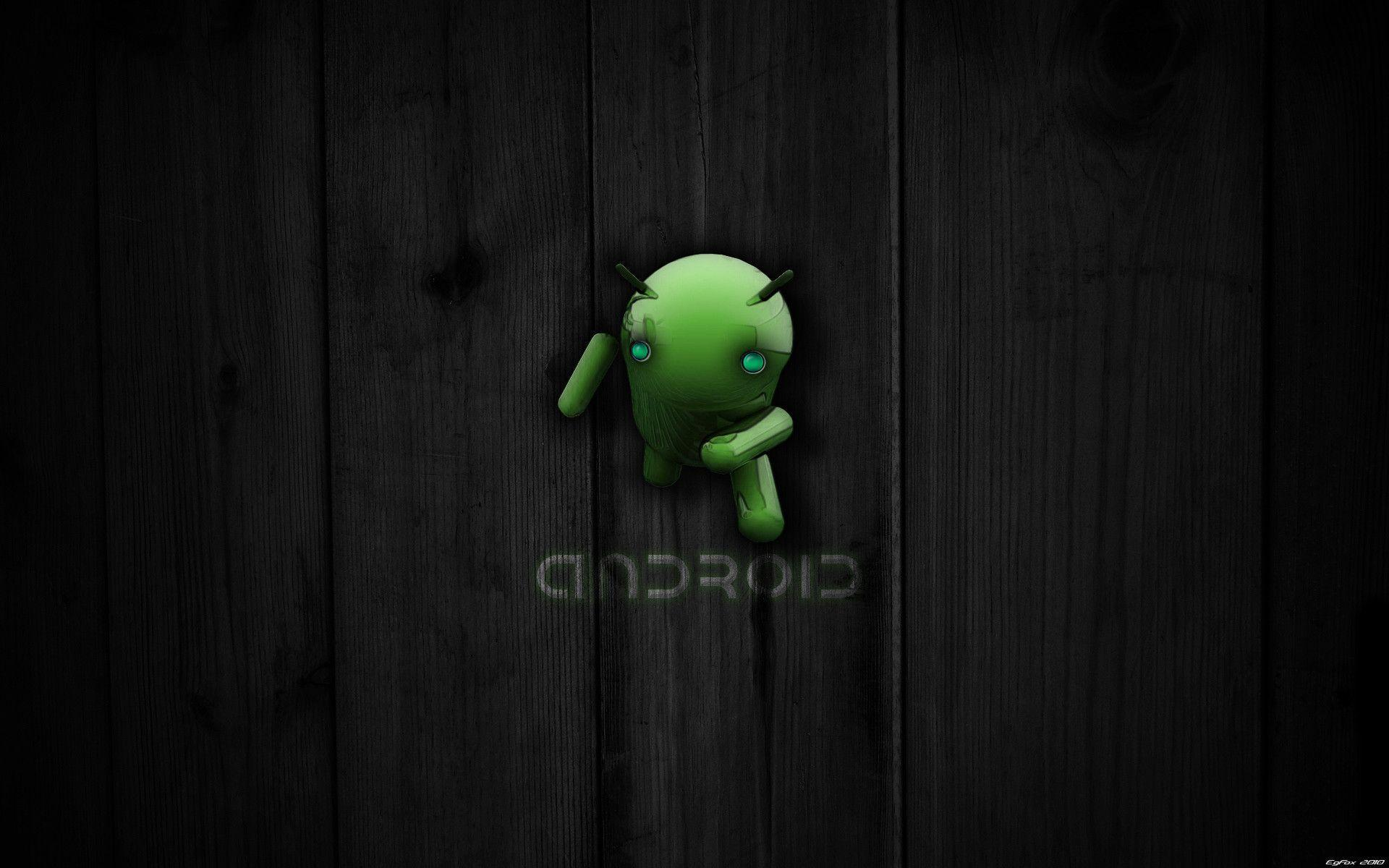 Android Wallpapers Wide Black With Green Icon Iphone Hd