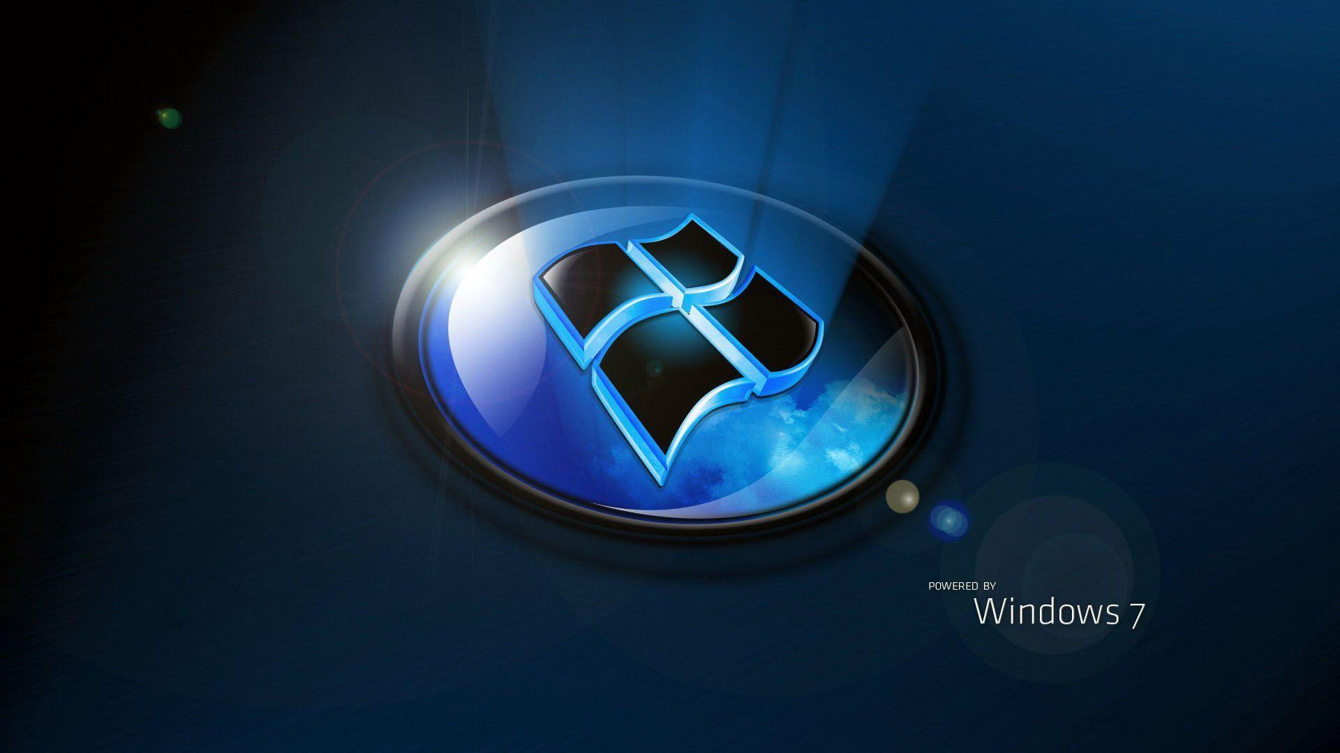 Windows 7 home premium 3D latest logo wallpapers free