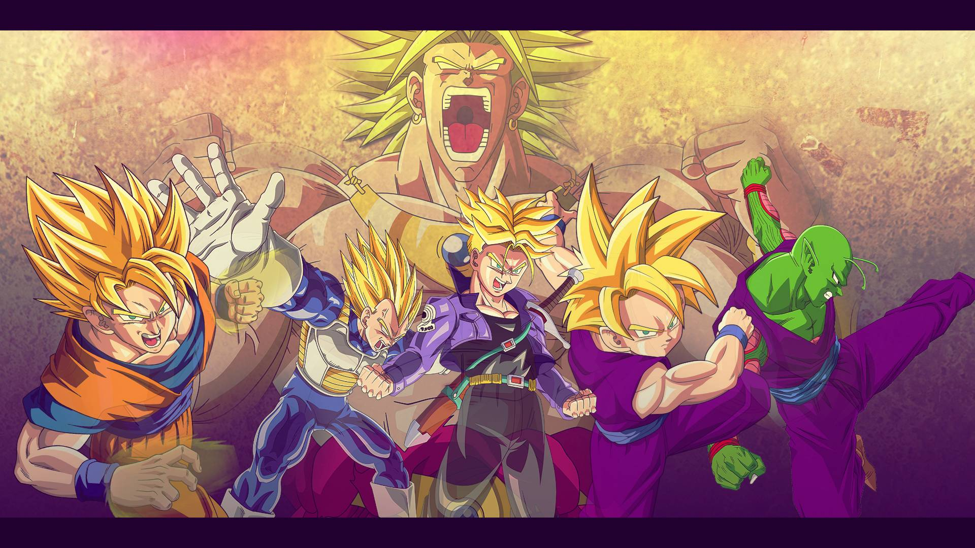Z Fighters Vs Broly Wallpaper 19201080 By Oirigns On DeviantArt