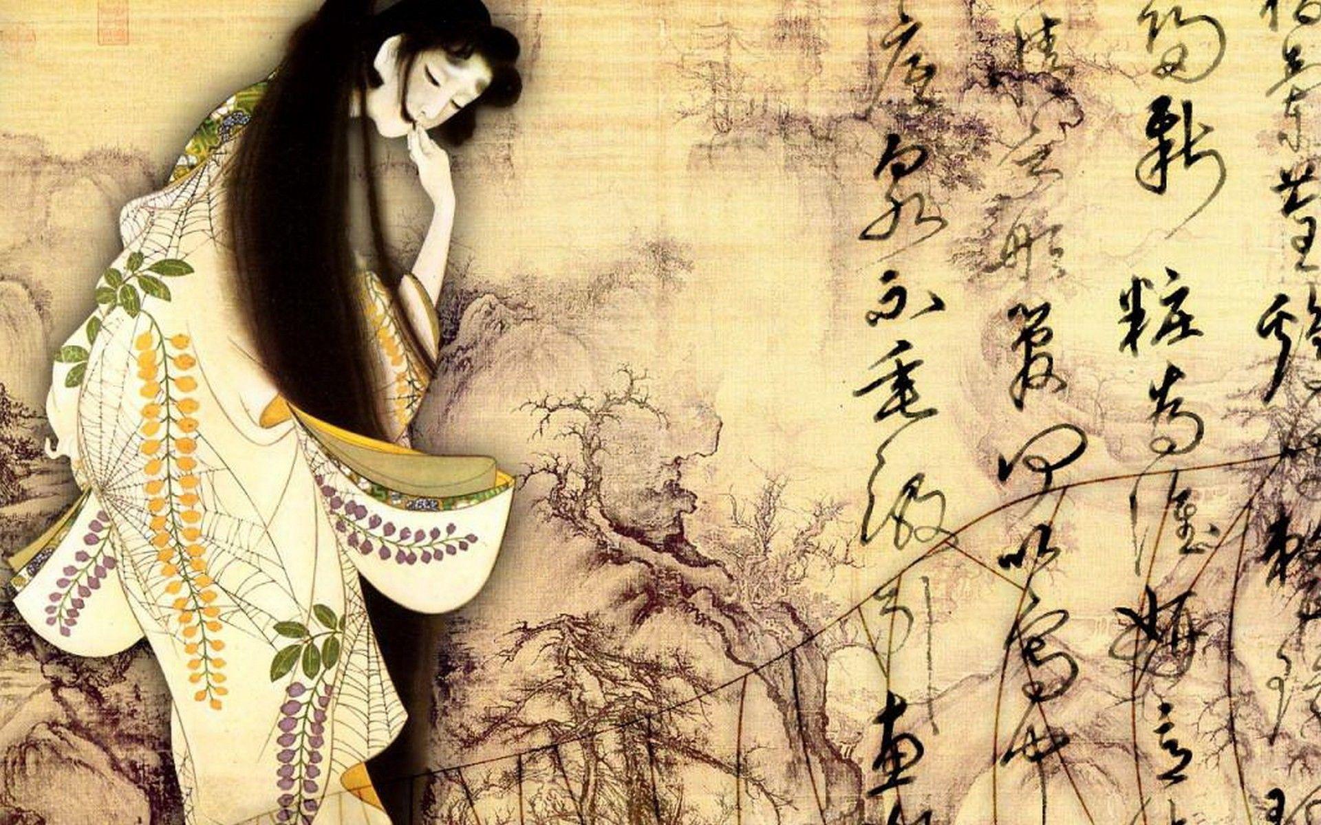 japanese geisha wallpapers wallpaper cave. Black Bedroom Furniture Sets. Home Design Ideas