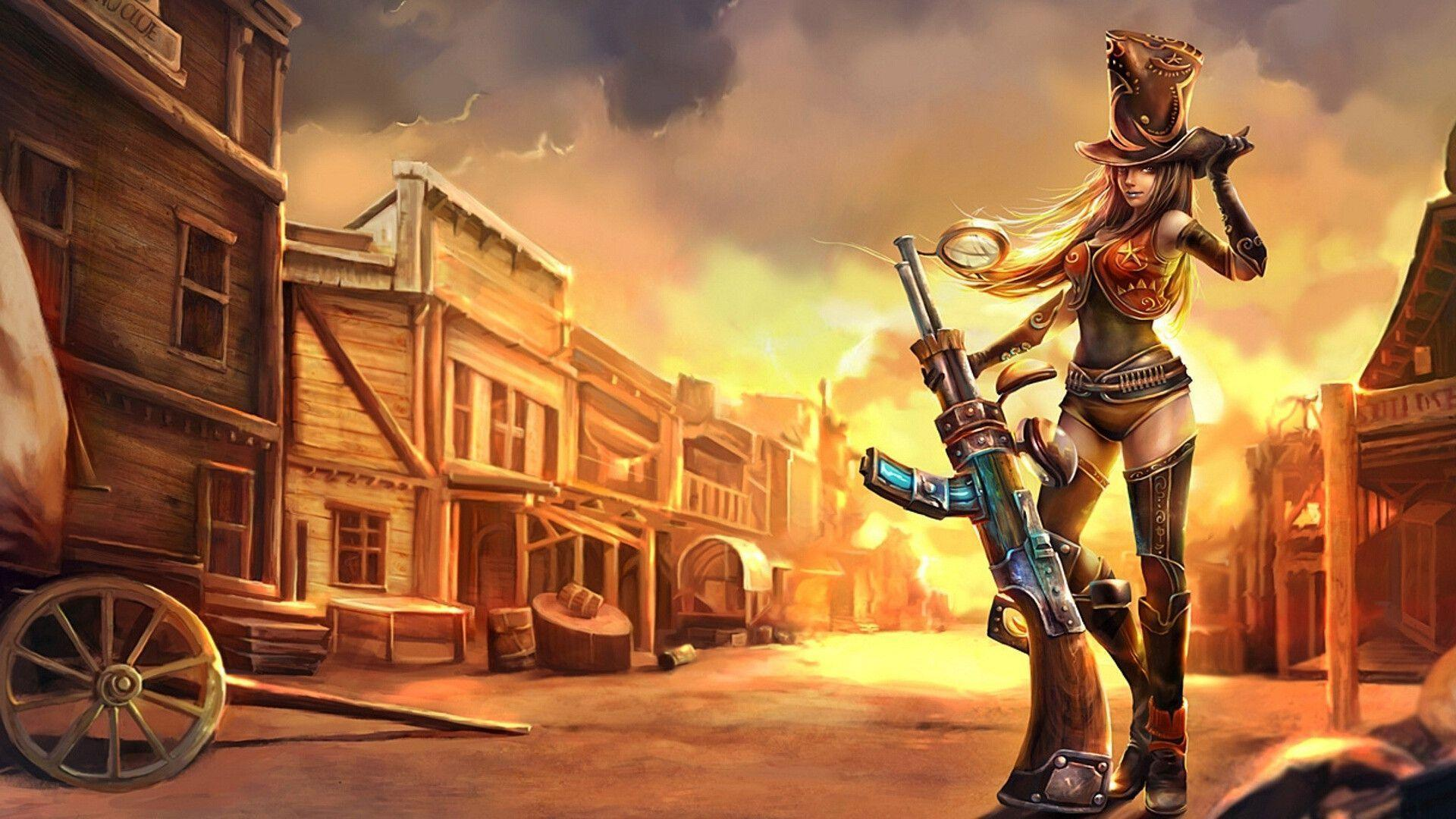 League of Legends: Sheriff Caitlyn HD Wallpapers