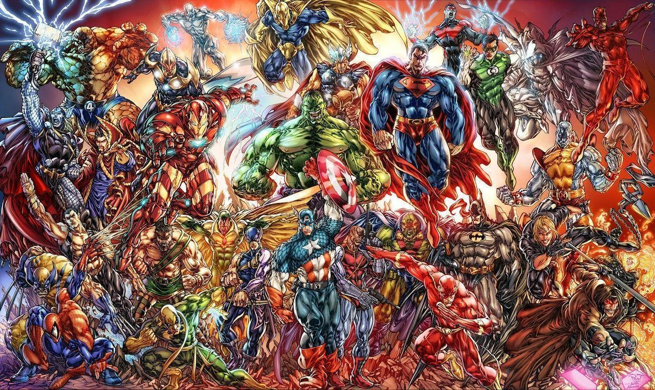 marvel dc wallpaper by - photo #5