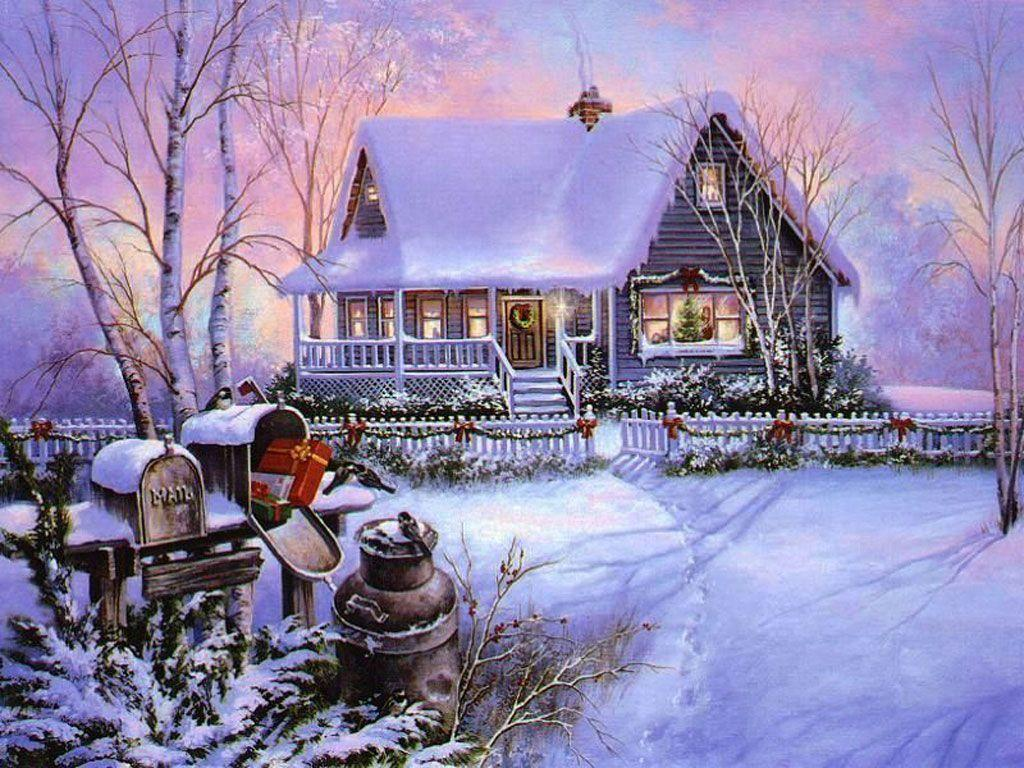 Xmas Stuff For > Beautiful Christmas Scenes Snow
