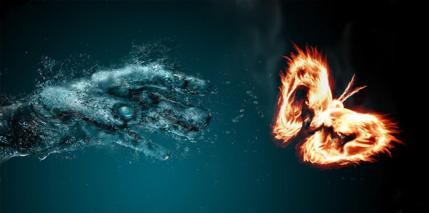 Image For > Fire And Water Wallpaper Backgrounds