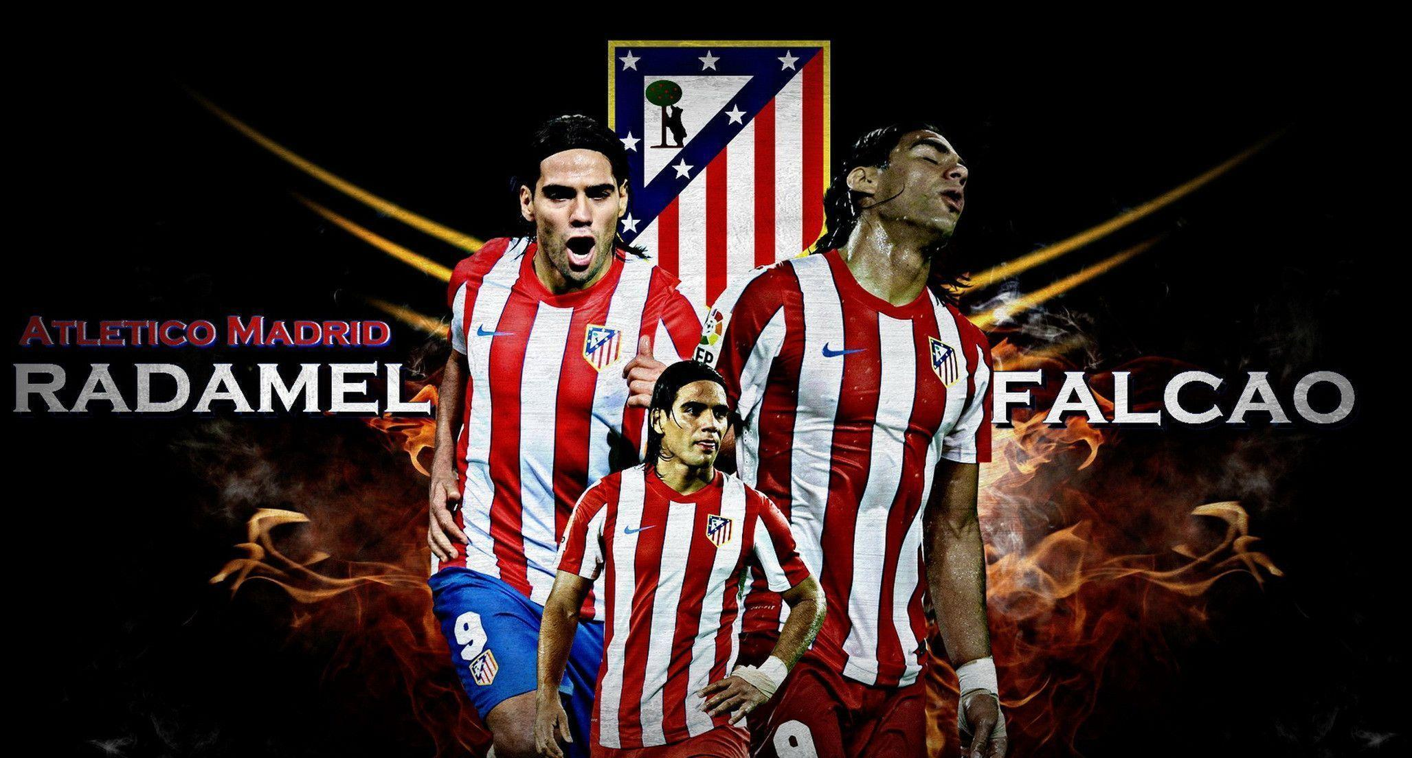 Atletico Madrid Radamel Falcao Wallpaper | Free Download Wallpaper ...
