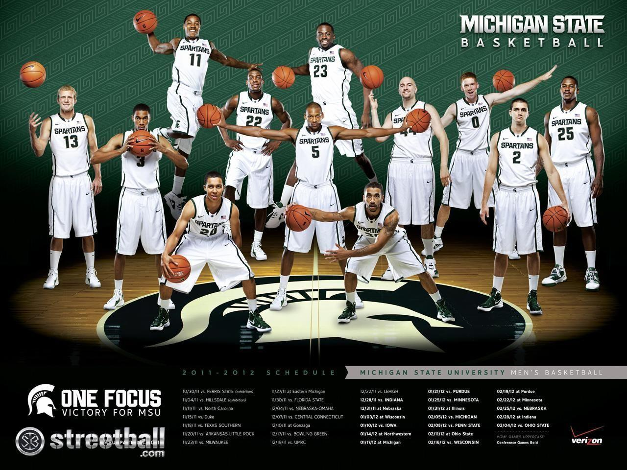 Michigan State University Wallpapers: College Basketball Wallpapers