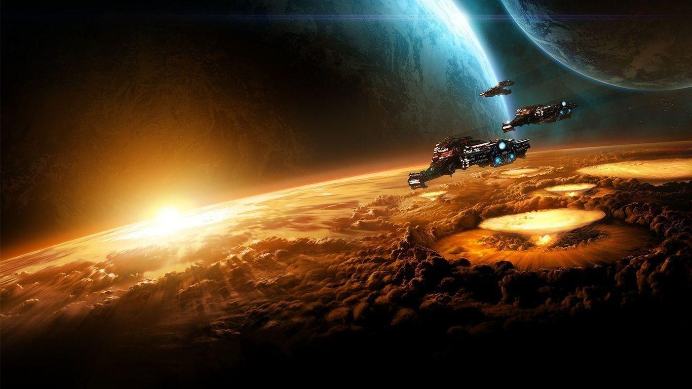 Space Backgrounds 1366x768 Wallpapers