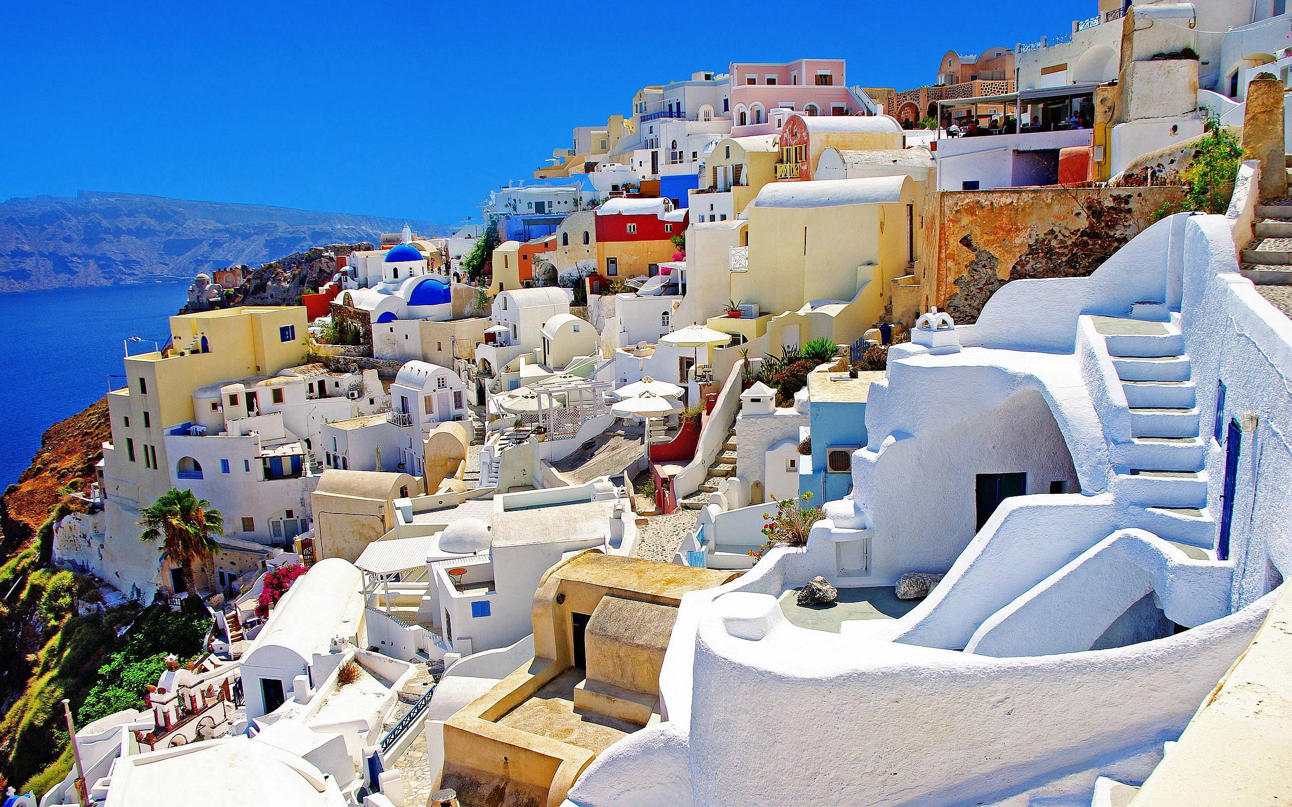 Colorful Santorini Wallpapers