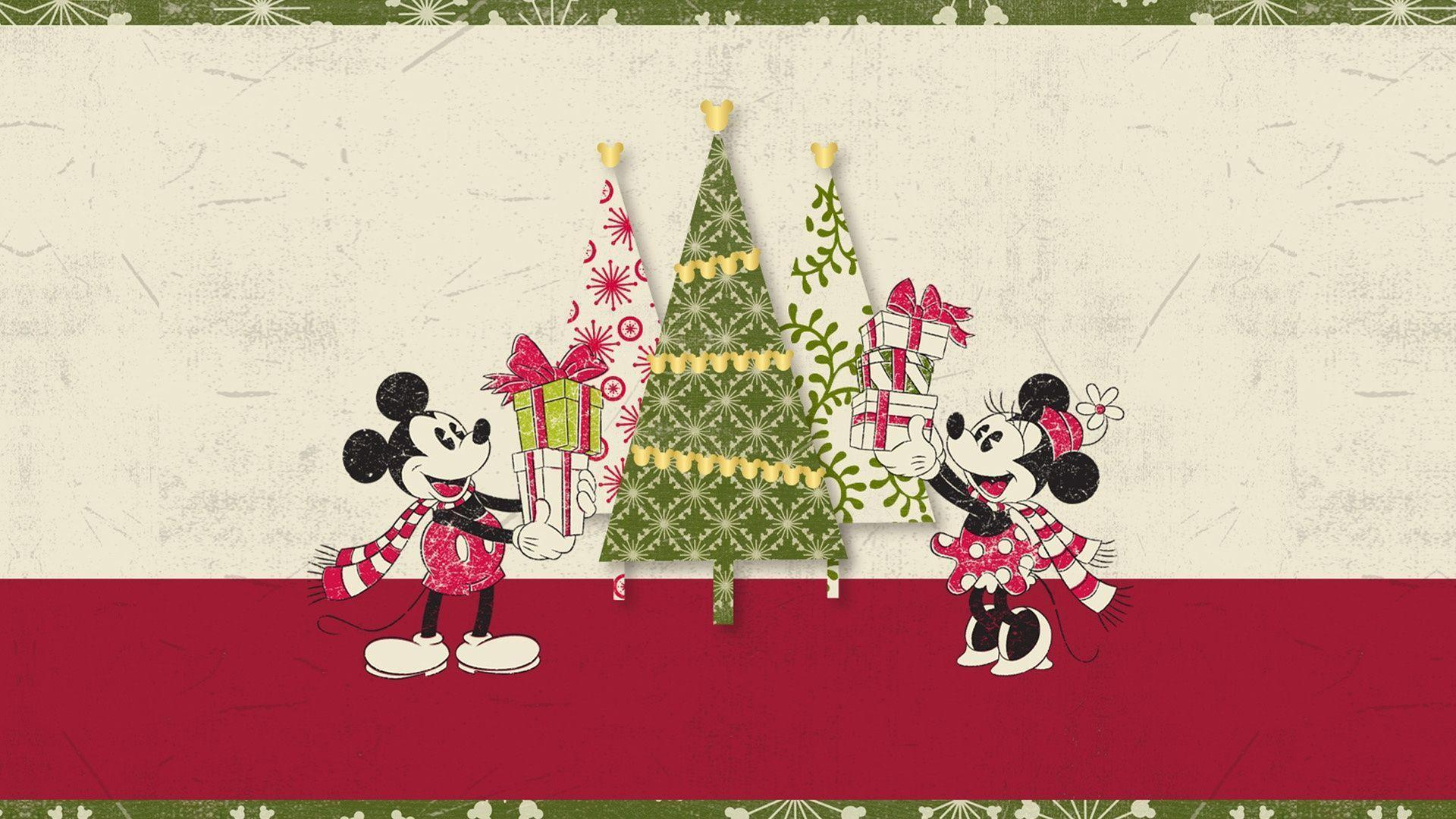 retro disney christmas wallpaper 1920x1080