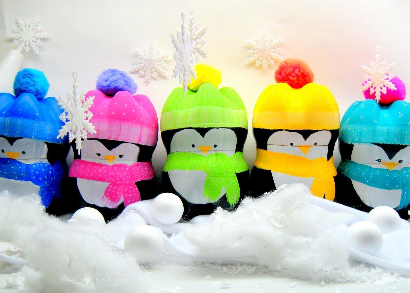 Cute Christmas Penguin Wallpaper