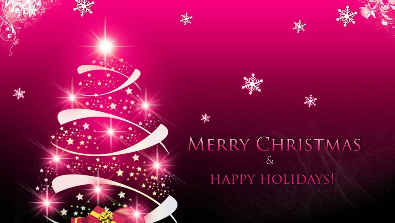 Christmas Background Hd Images.Pink Christmas Wallpapers Wallpaper Cave