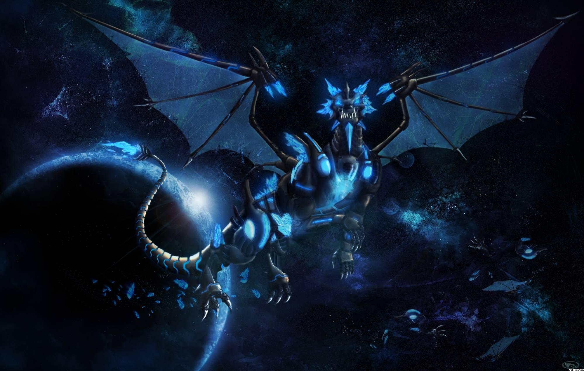 cool blue dragon wallpaper - photo #20