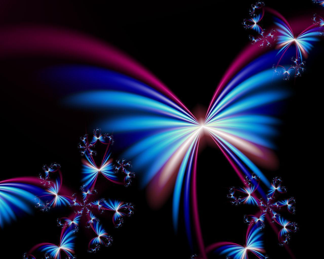 Neon Butterfly Desktop Background: Free Butterfly Desktop Backgrounds