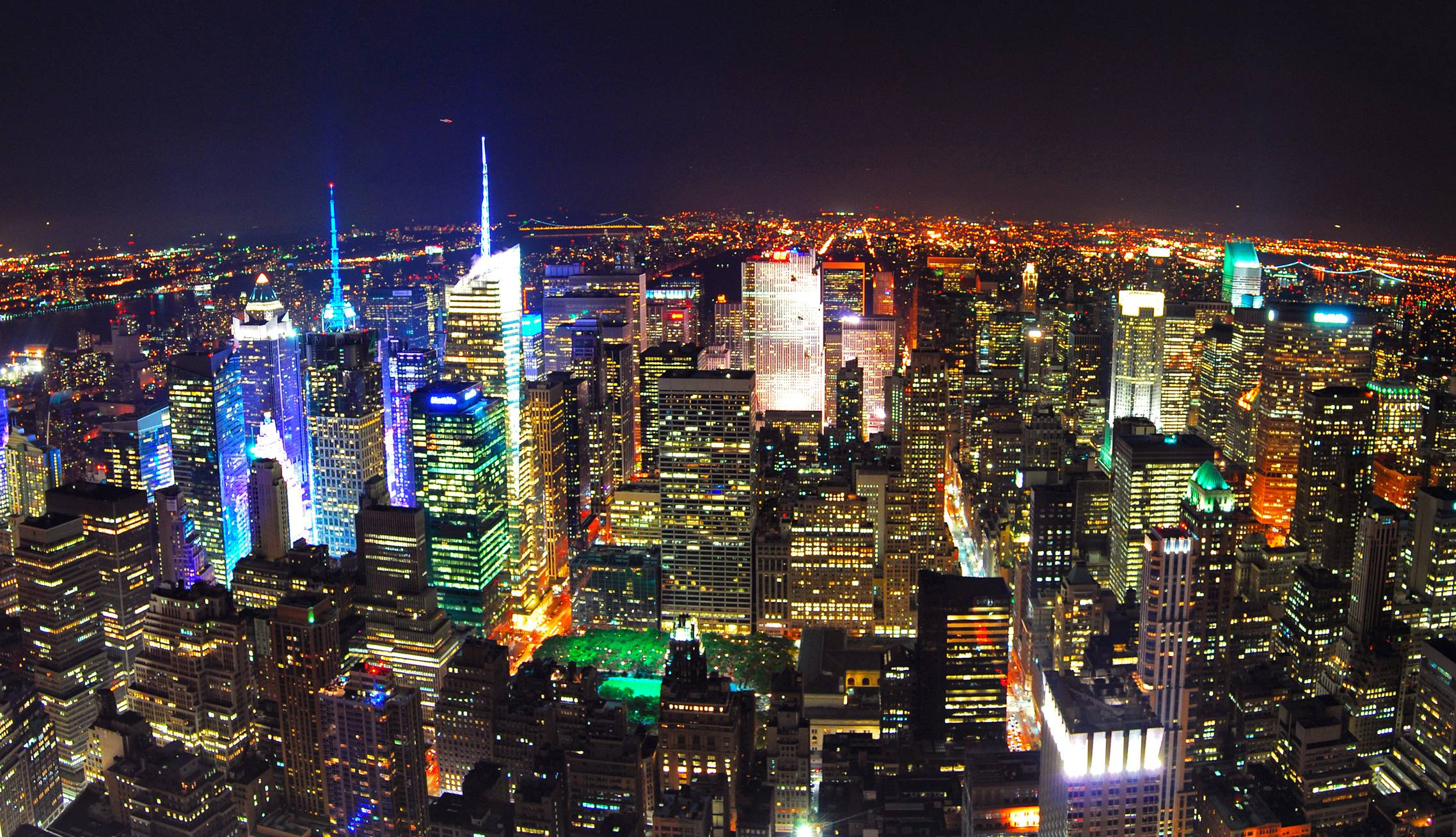 Ny city backgrounds wallpaper cave - Skyline night wallpaper ...