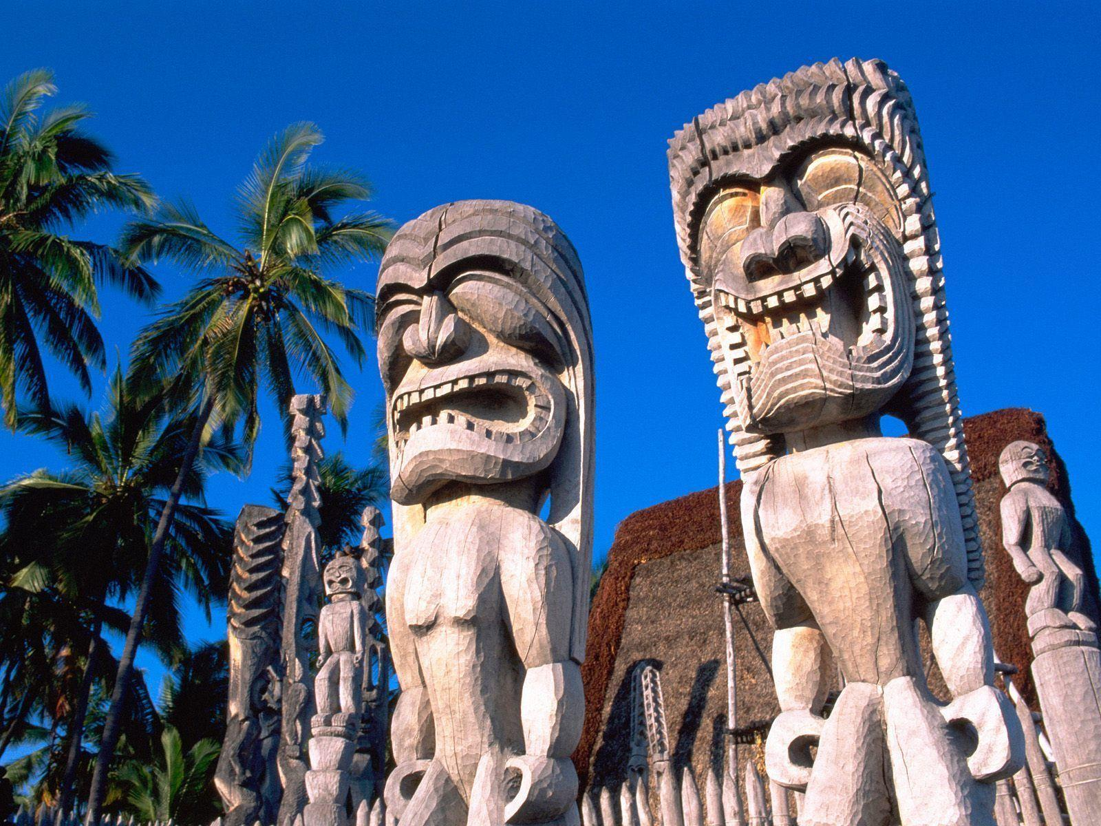 Hawaiian statuettes wallpapers and images - wallpapers, pictures ...