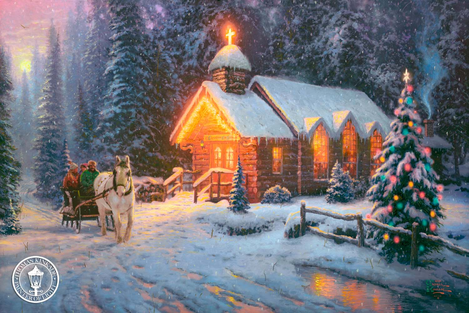 thomas kinkade christmas wallpapers wallpaper cave