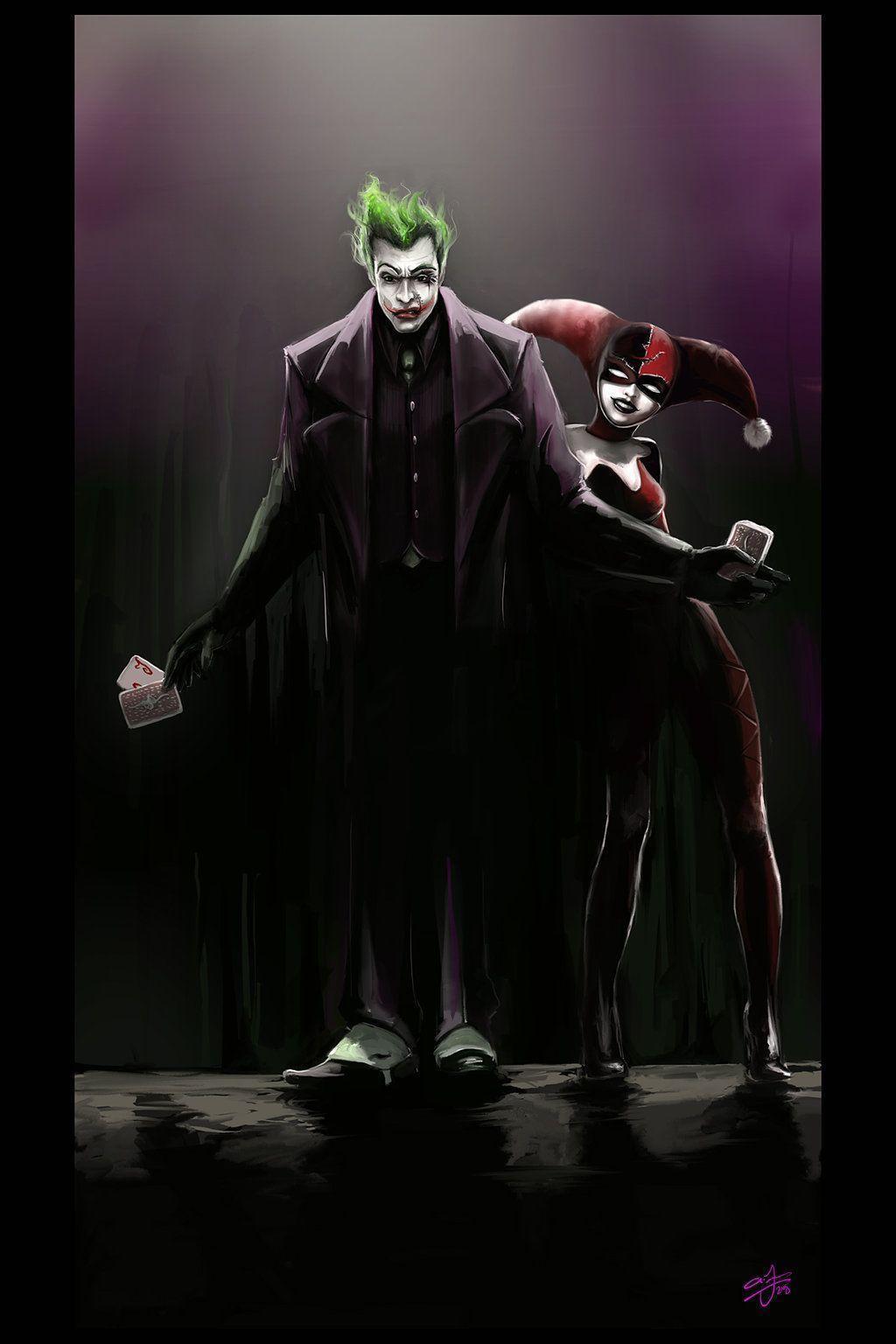 Joker and harley quinn wallpapers wallpaper cave for Harley quinn wallpaper